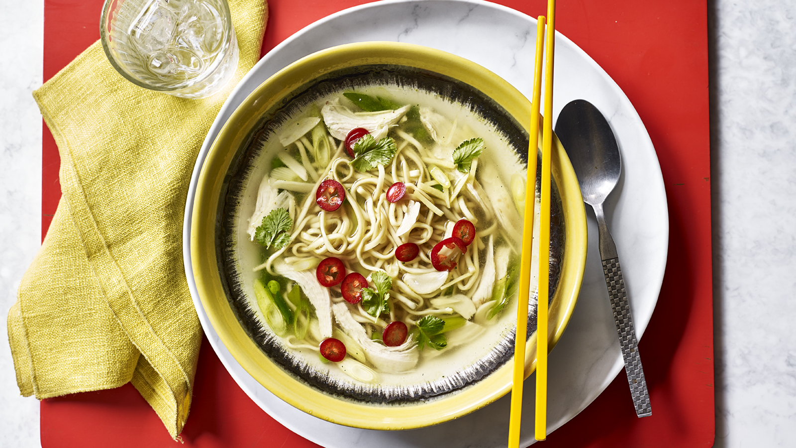 5 Minute Chicken Noodle Soup Recipe Bbc Food