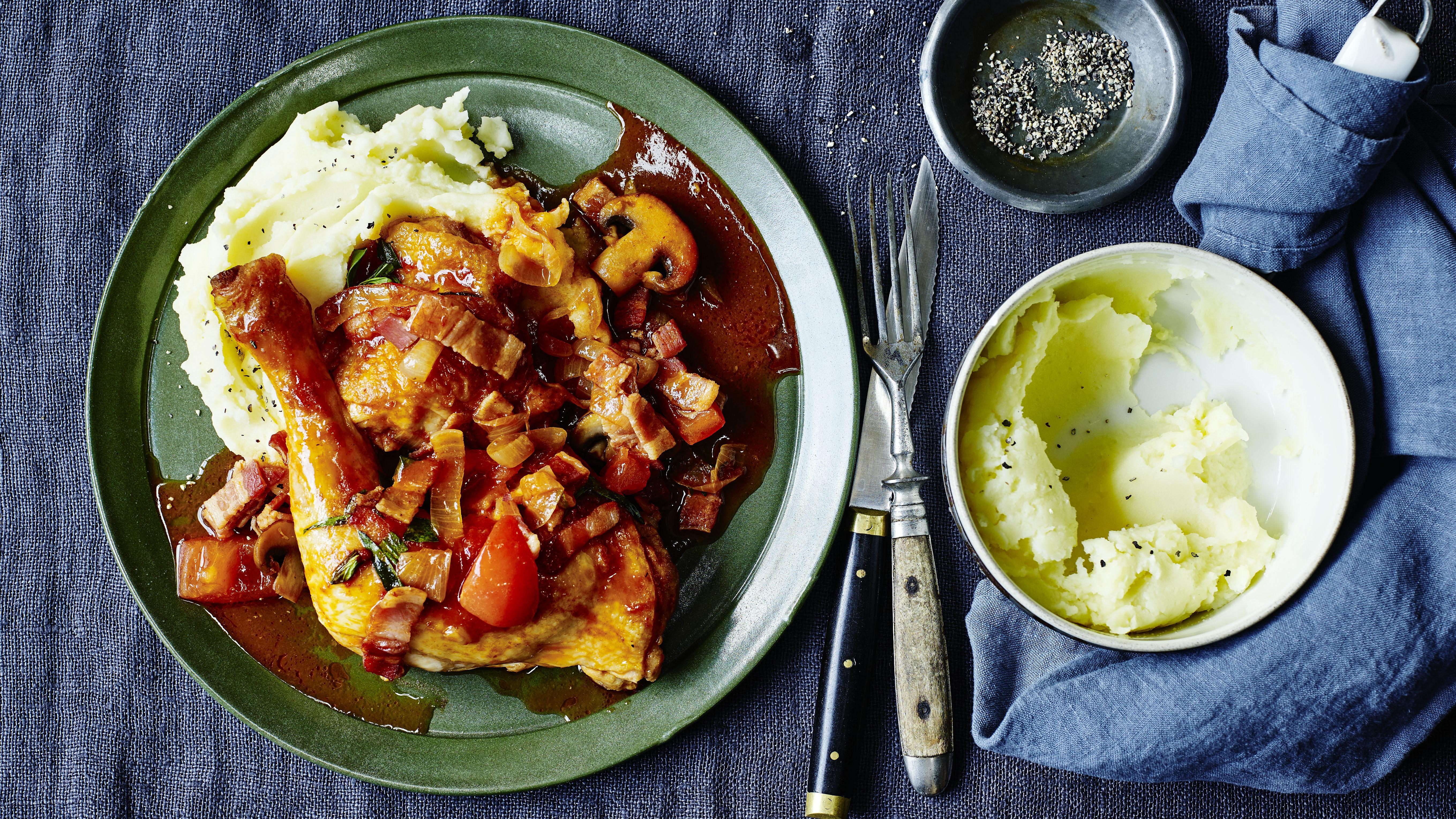 Chicken chasseur with creamy mash recipe bbc food forumfinder Gallery