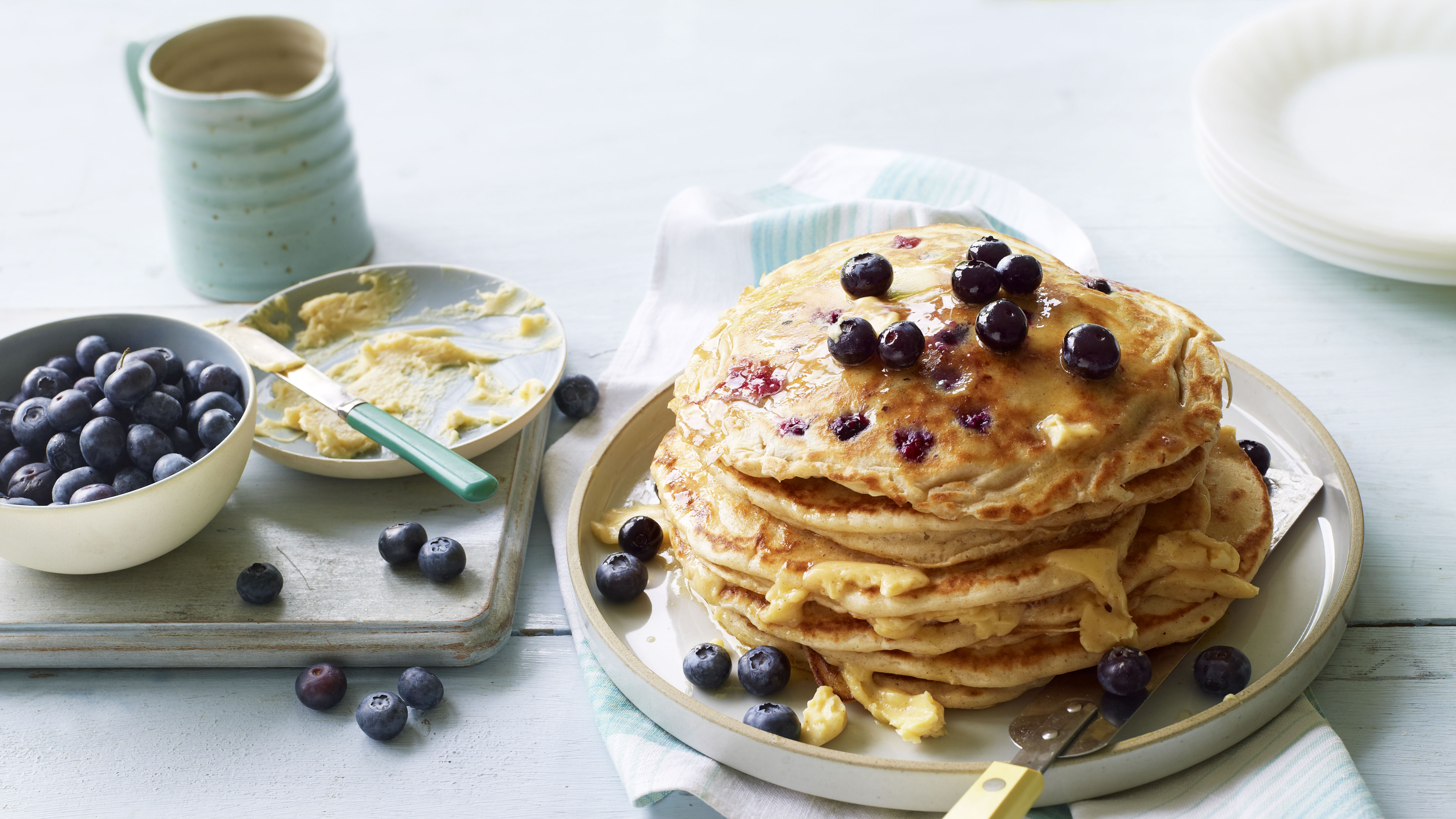 American style pancakes with blueberries recipe bbc food forumfinder Gallery