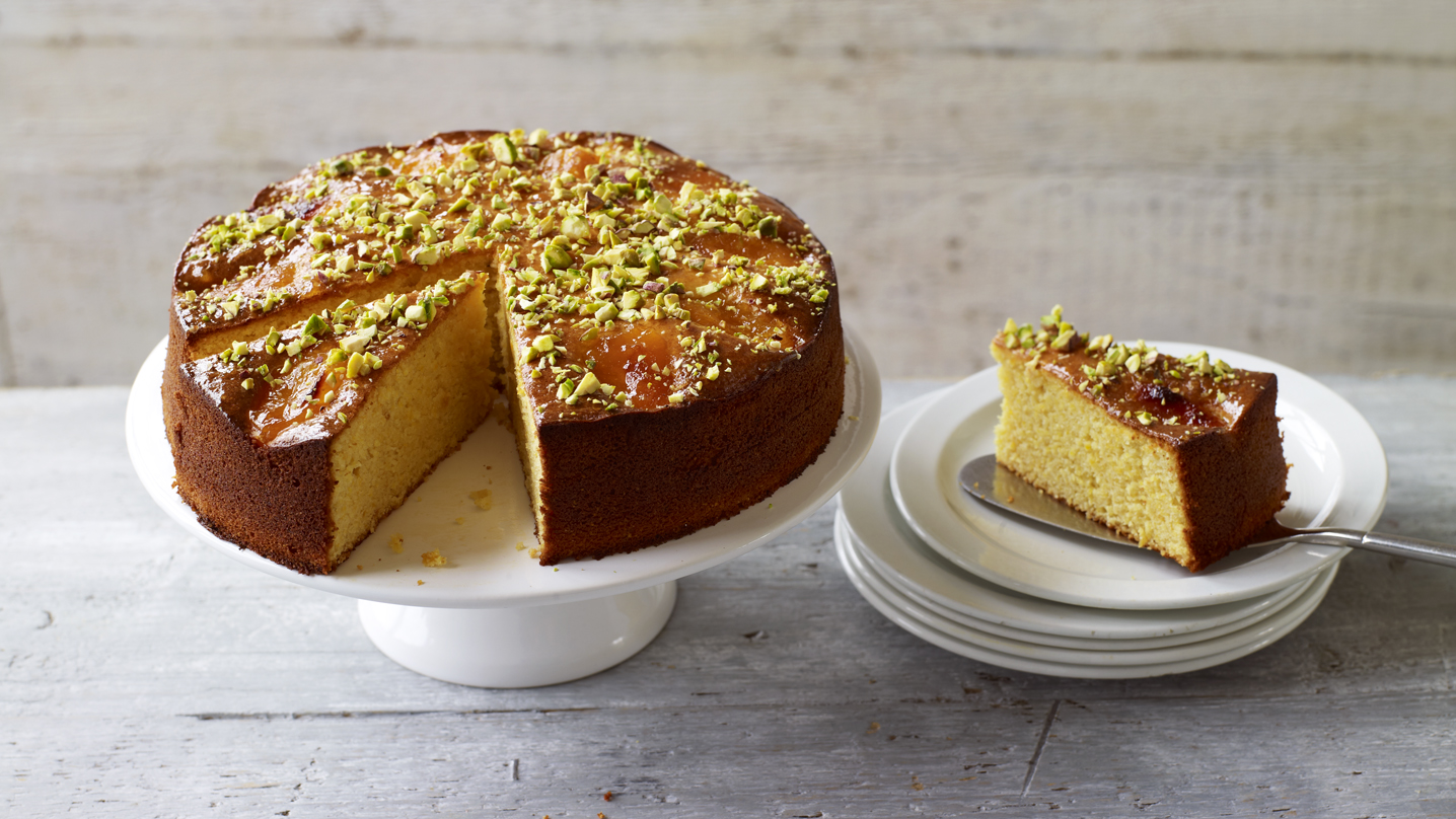 Apricot almond cake with rosewater and cardamom recipe bbc food forumfinder Image collections
