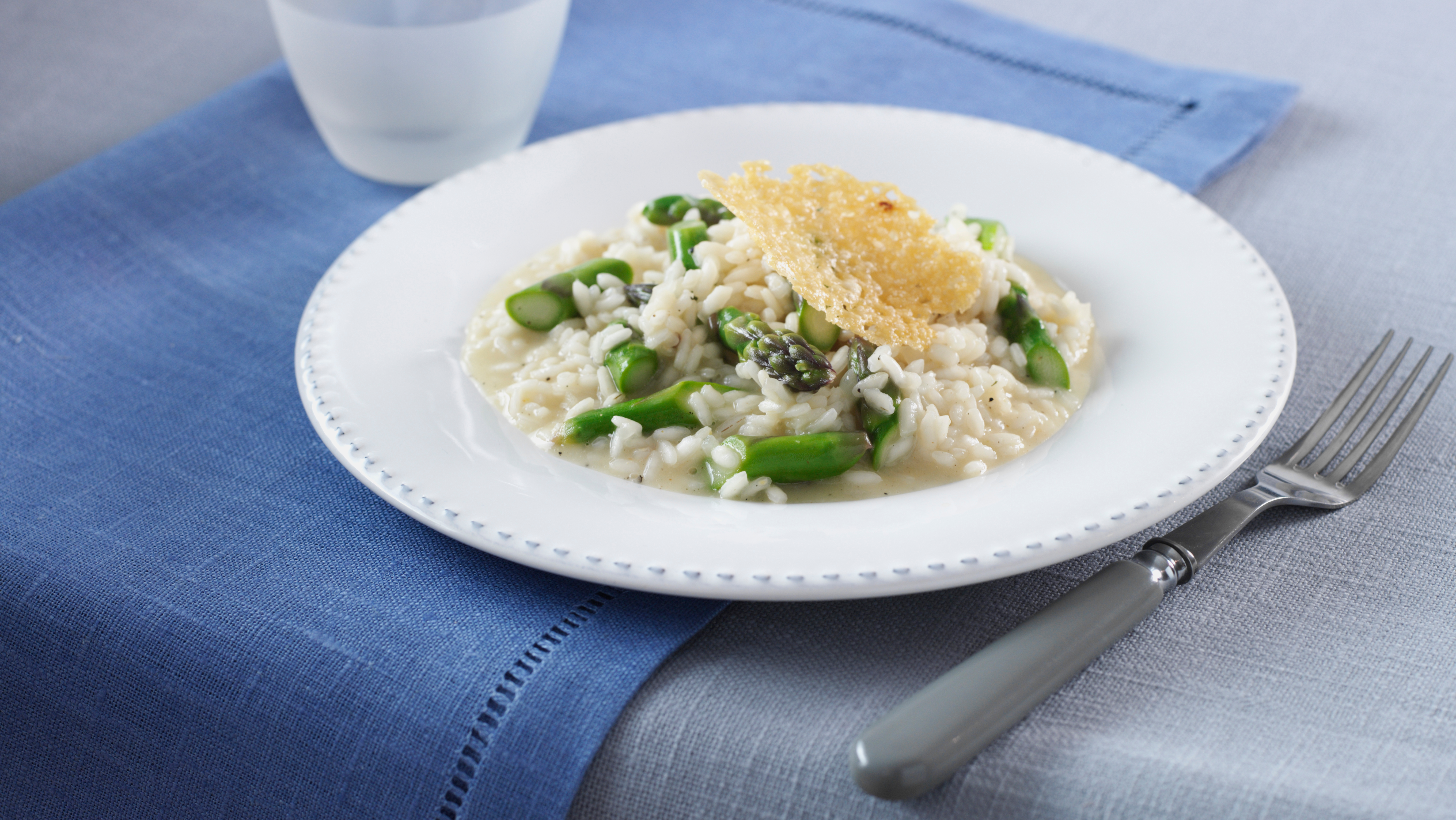 Creamy Asparagus Risotto with Roasted Monkfish Recipe
