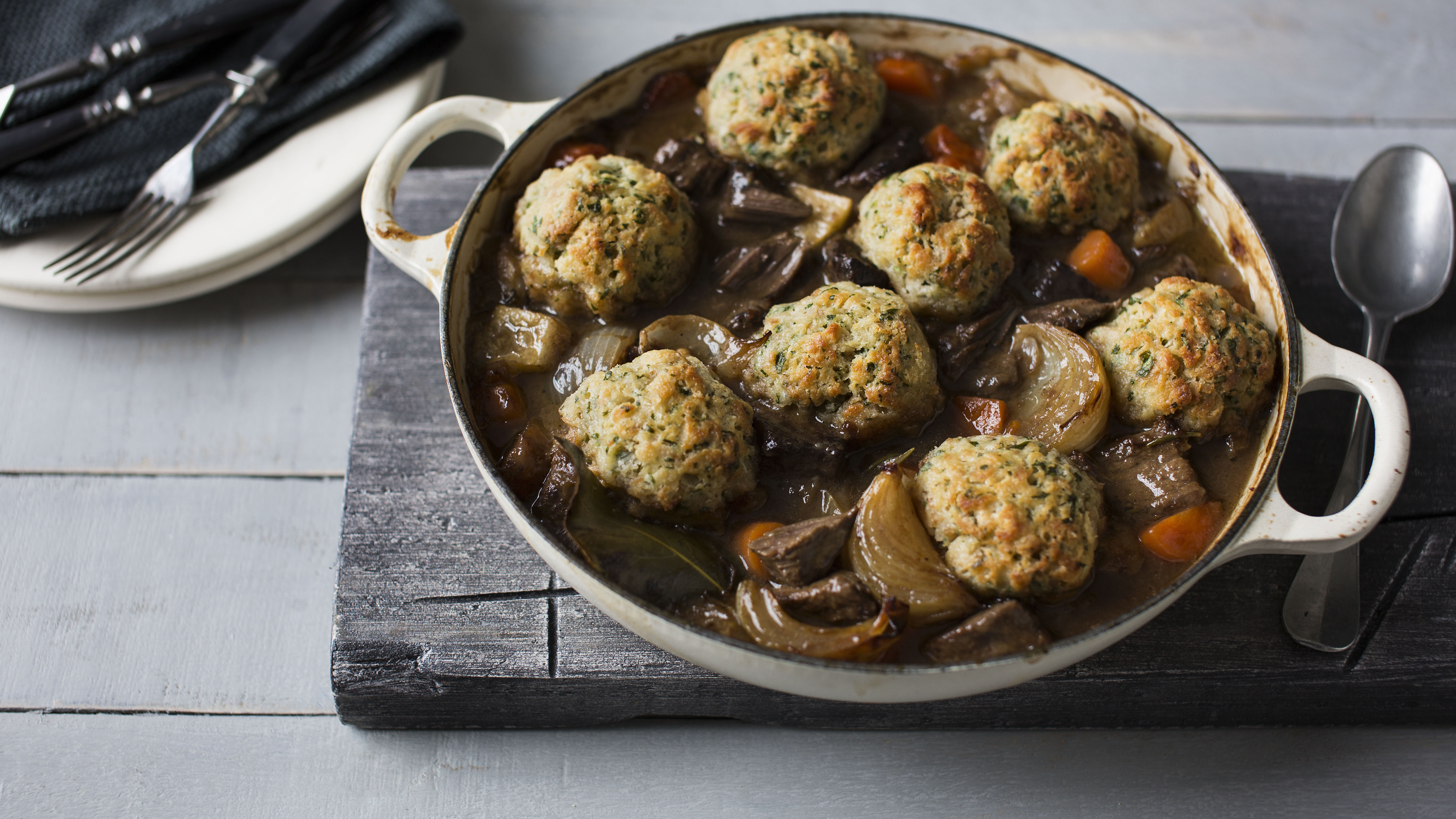 Beef And Ale Stew With Dumplings Recipe Bbc Food