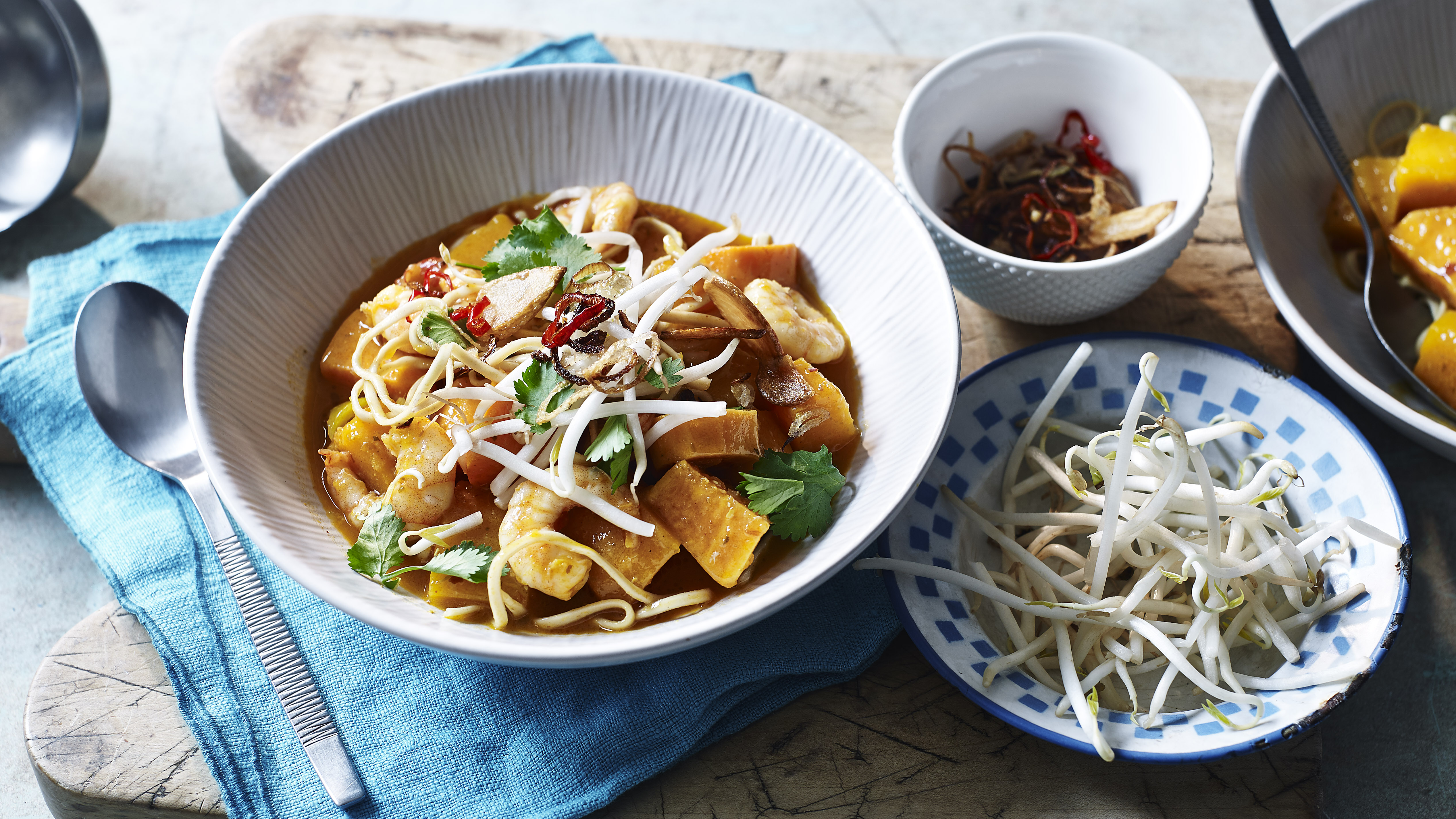 Butternut Squash And Prawn Curry With Noodles Recipe Bbc Food