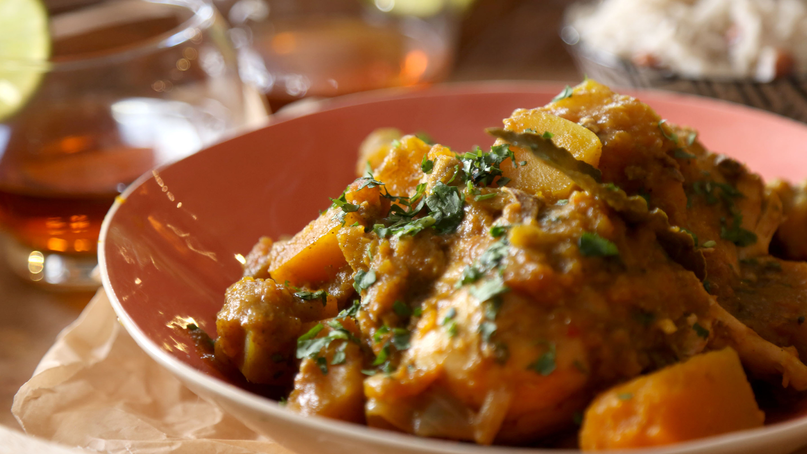Caribbean Chicken And Pumpkin Curry Recipe Bbc Food