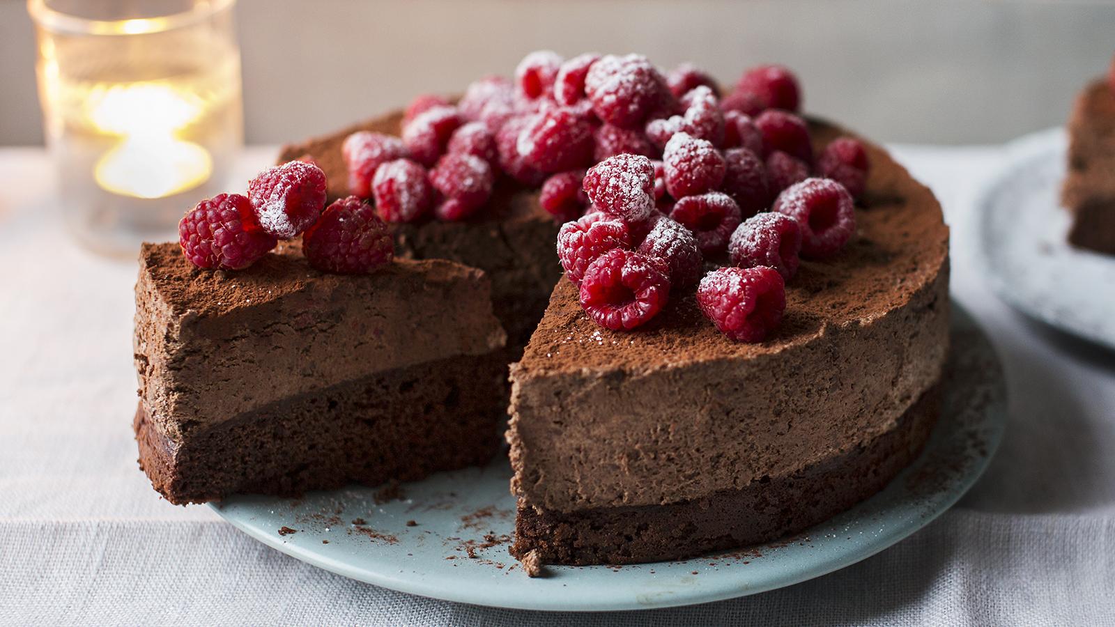 Celebration chocolate mousse cake recipe bbc food forumfinder Images