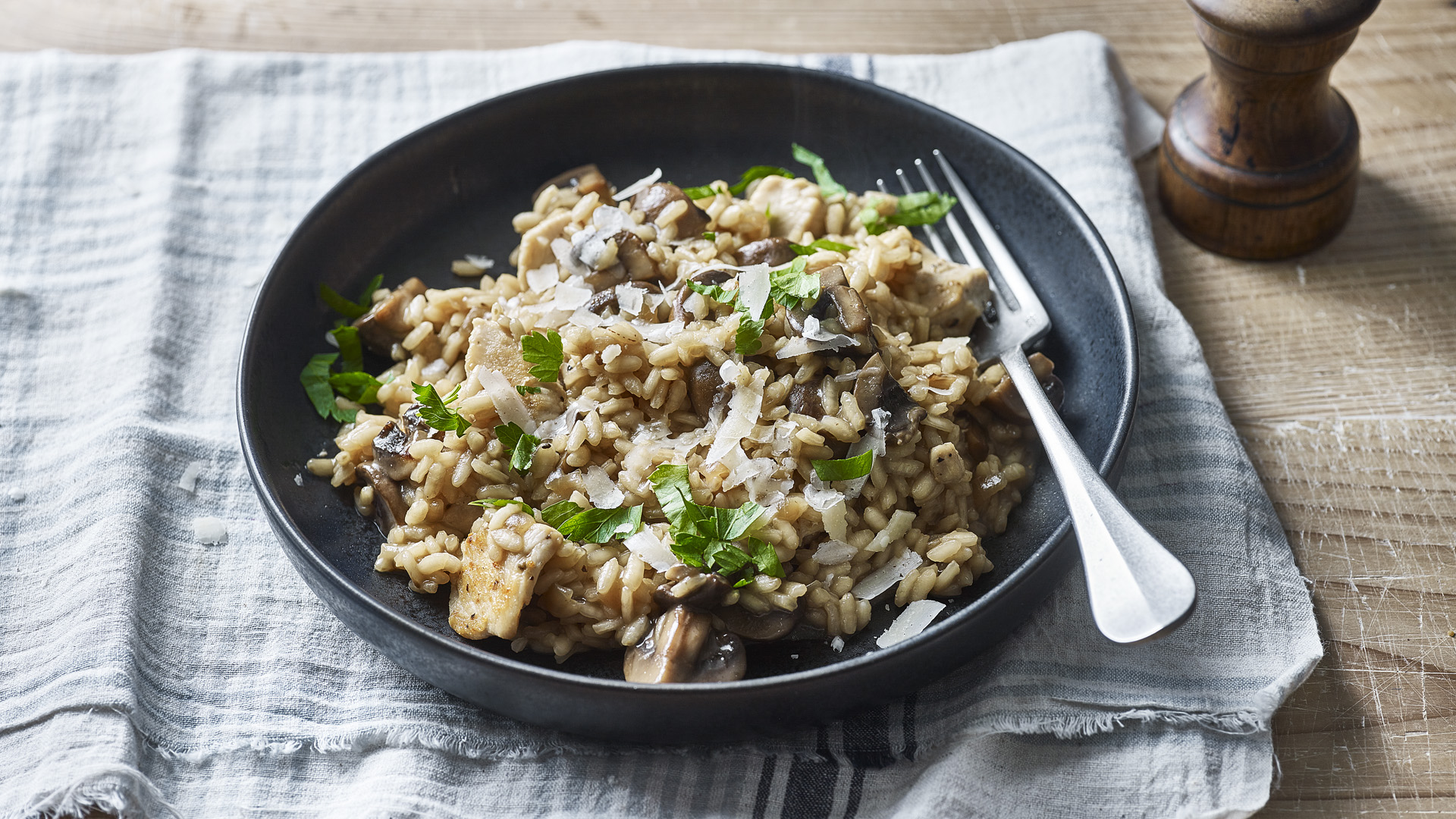 Chicken And Mushroom Risotto Recipe Bbc Food