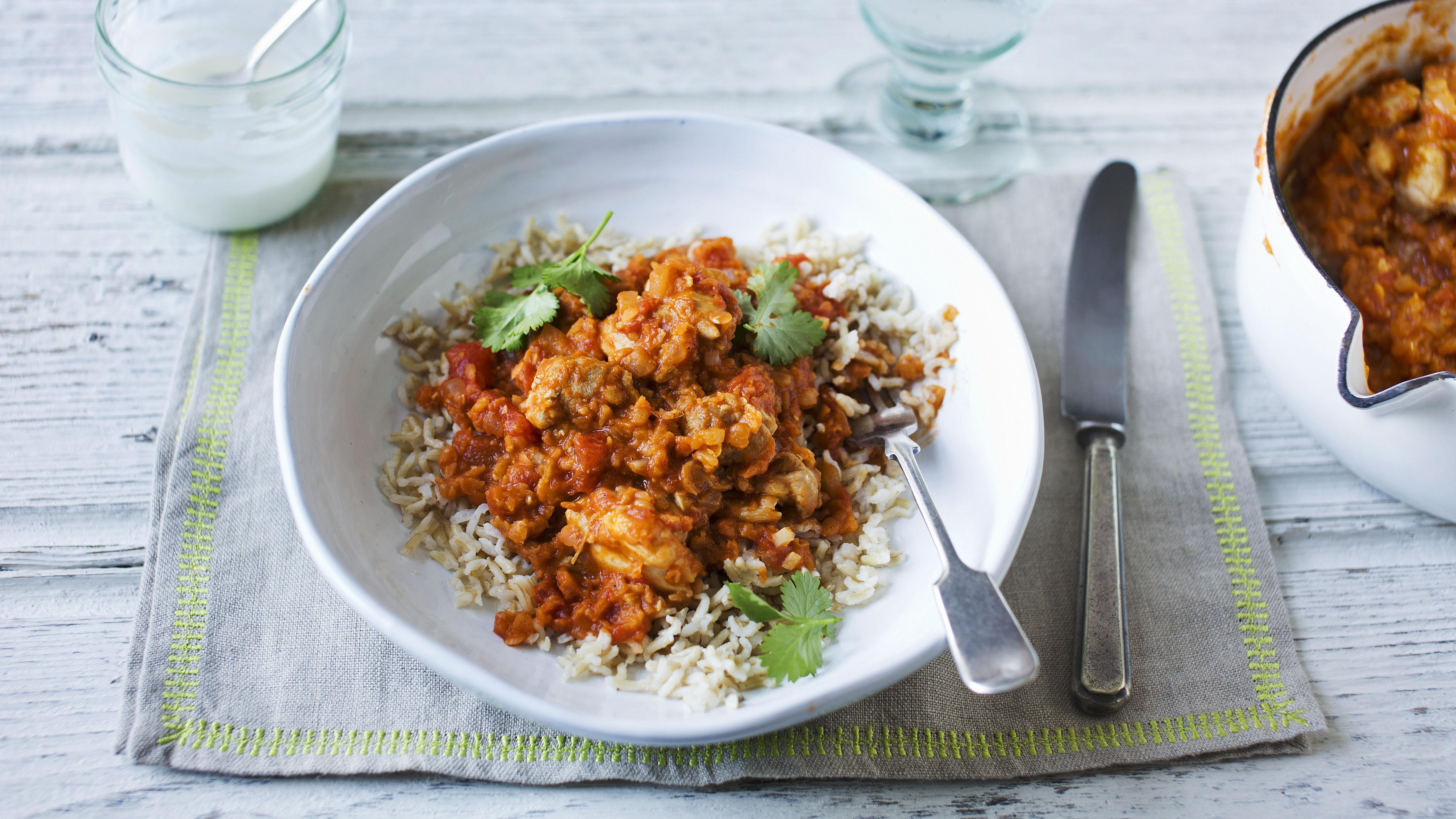 Chicken dhansak curry recipe bbc food forumfinder Choice Image