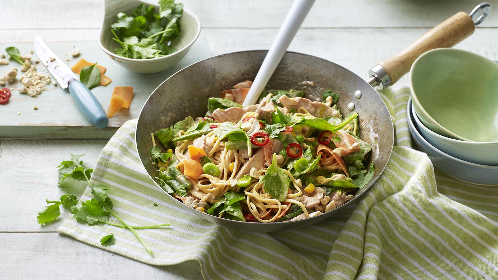 Chicken satay noodles recipe bbc food forumfinder Gallery