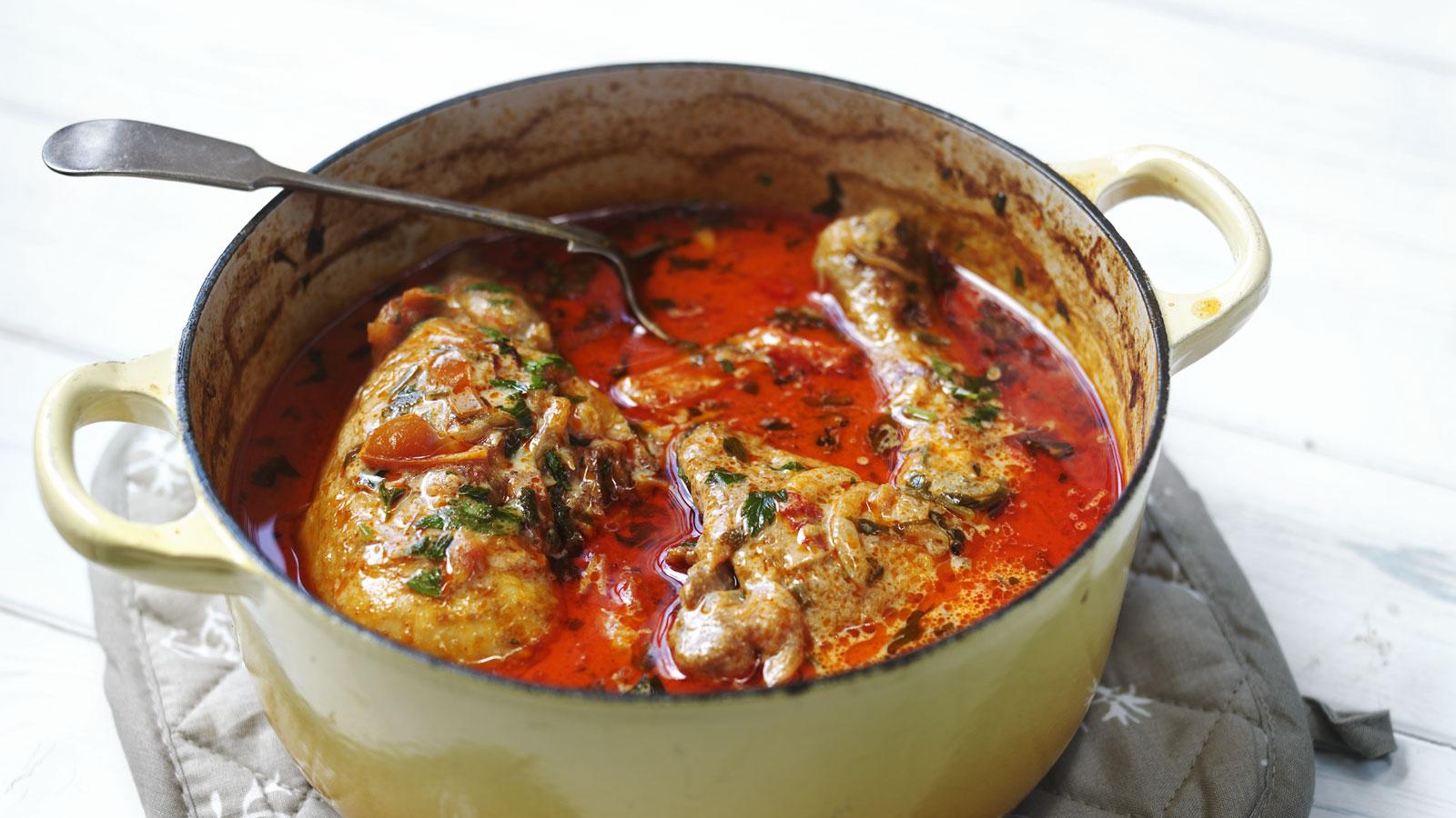 chicken paprika recipe bbc food