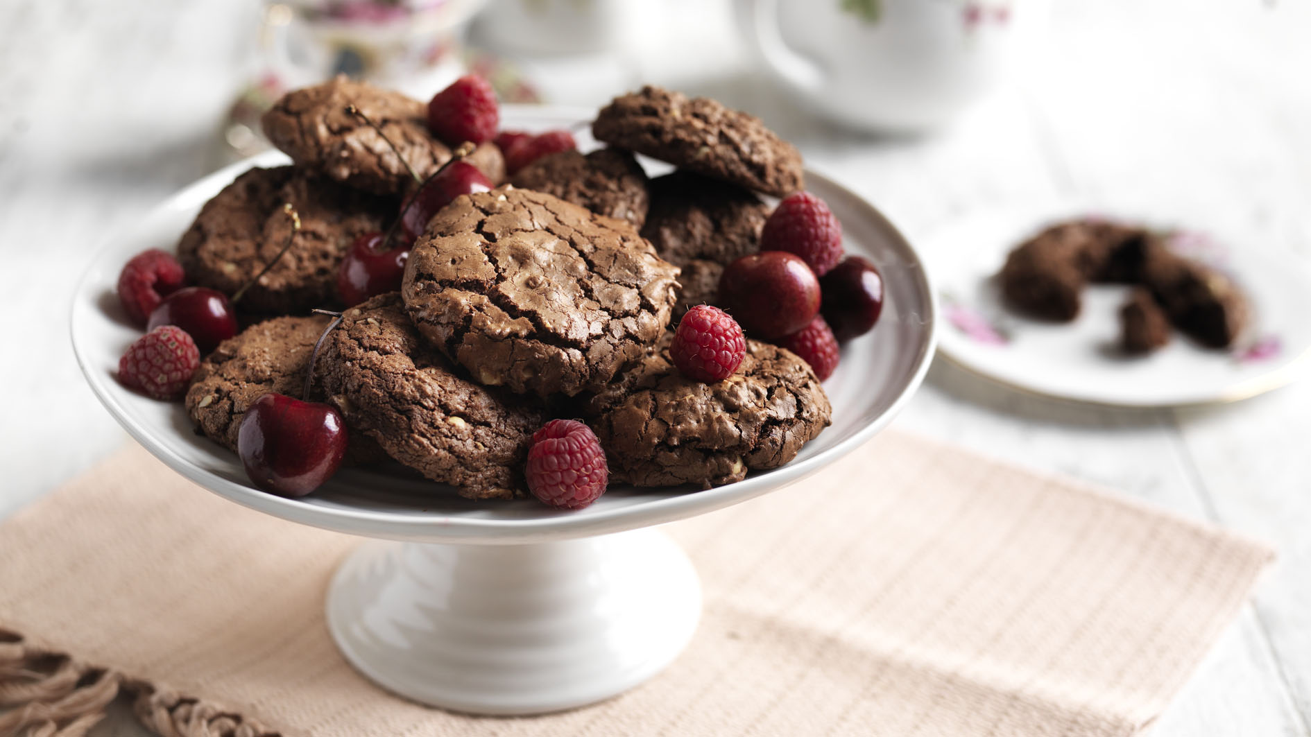 Chocolate cookies with scarlet fruit recipe bbc food forumfinder Images