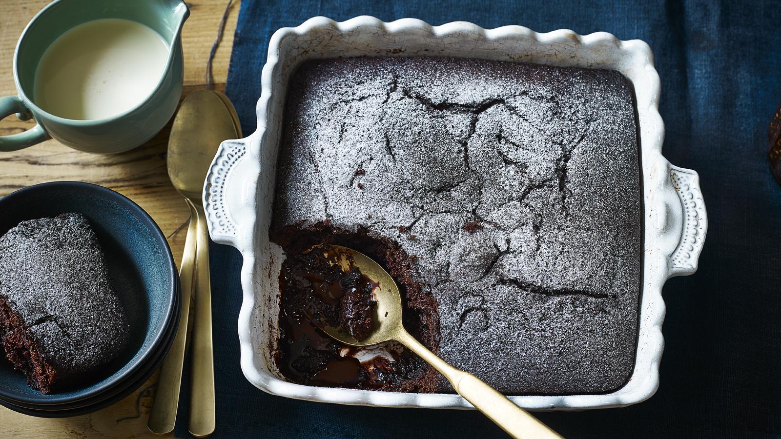 Chocolate Self Saucing Pudding Recipe Bbc Food