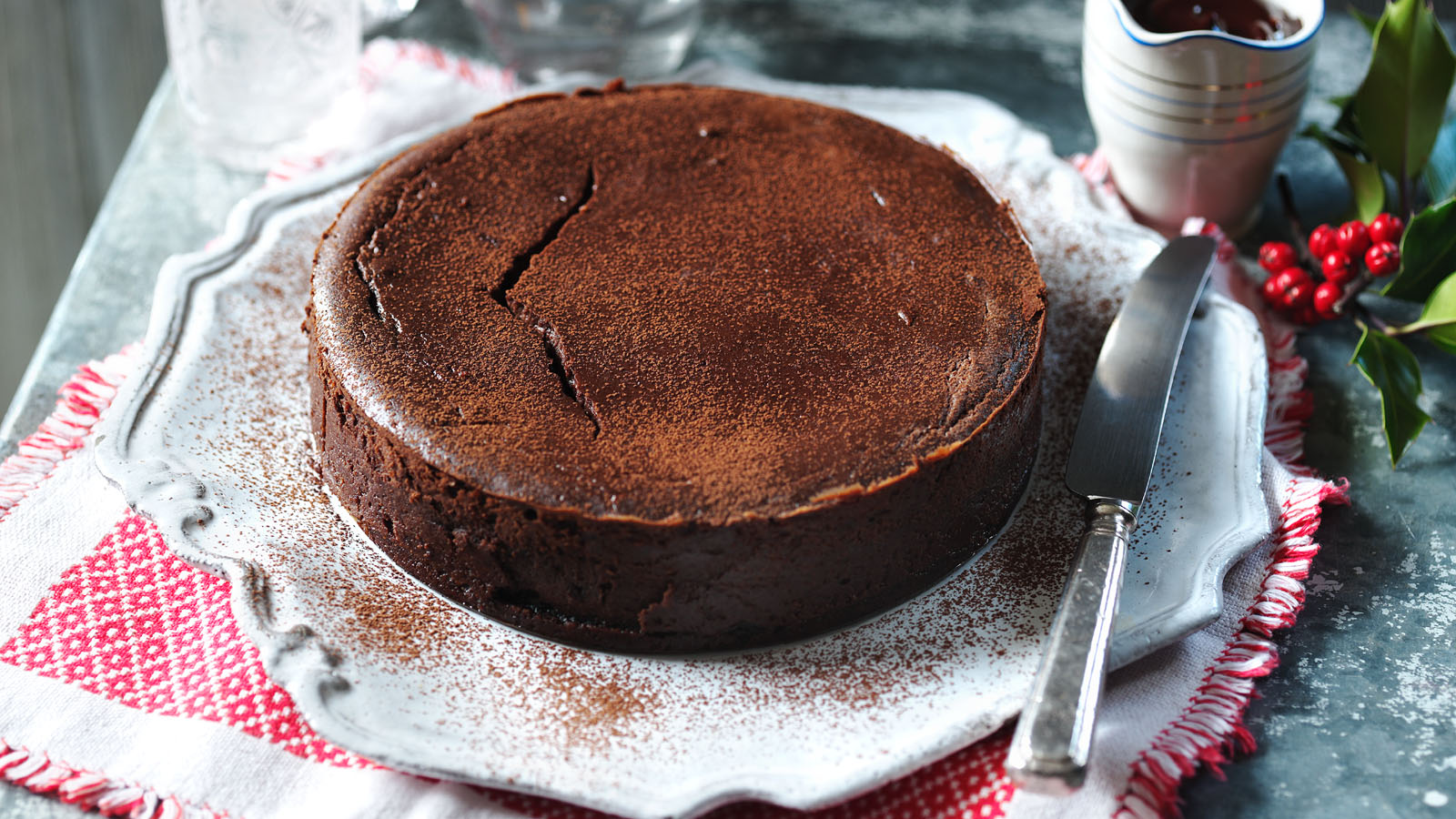 Chocolate christmas pudding cheesecake recipe bbc food forumfinder Image collections
