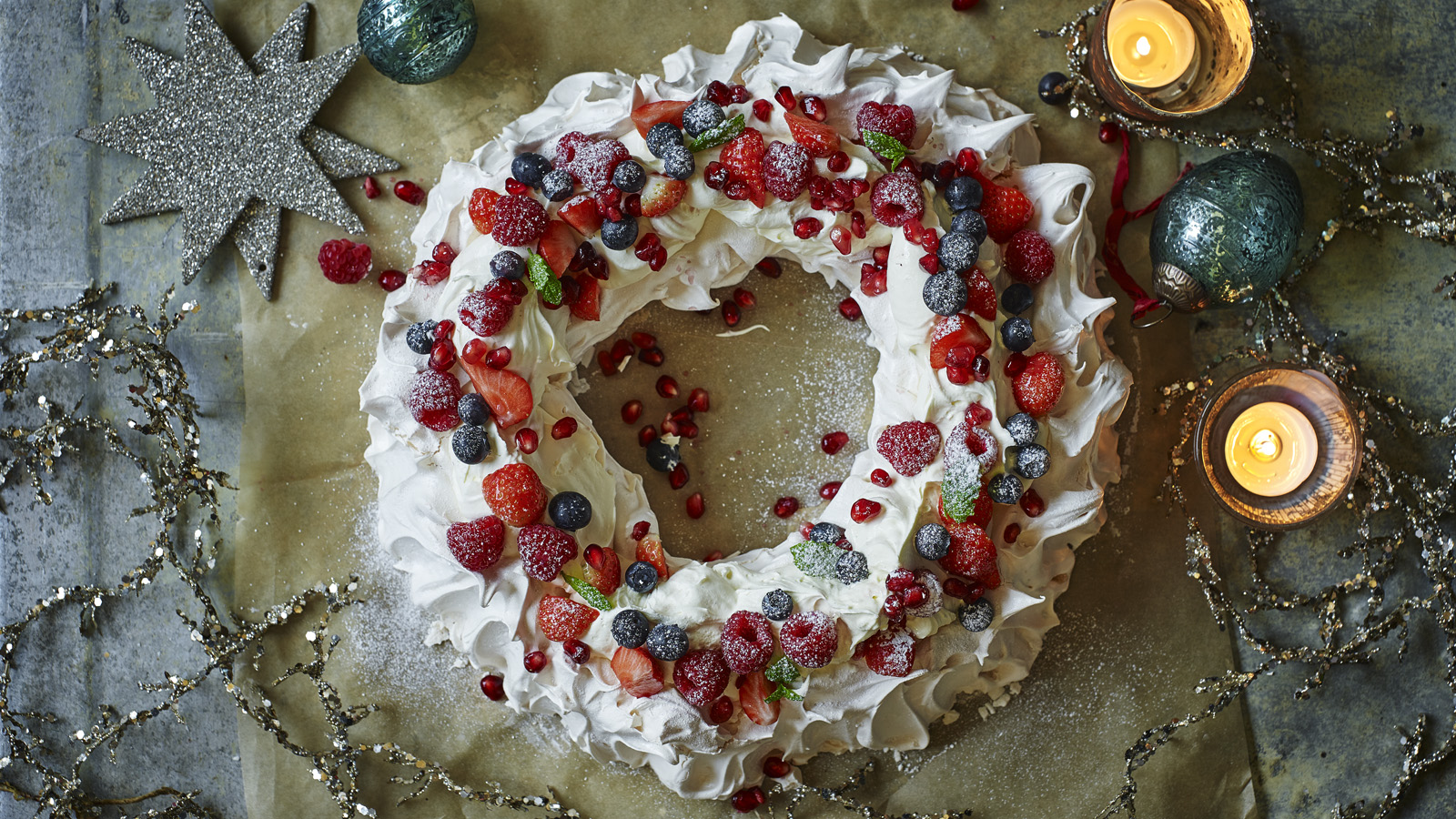 Christmas Pavlova Recipe Bbc Food