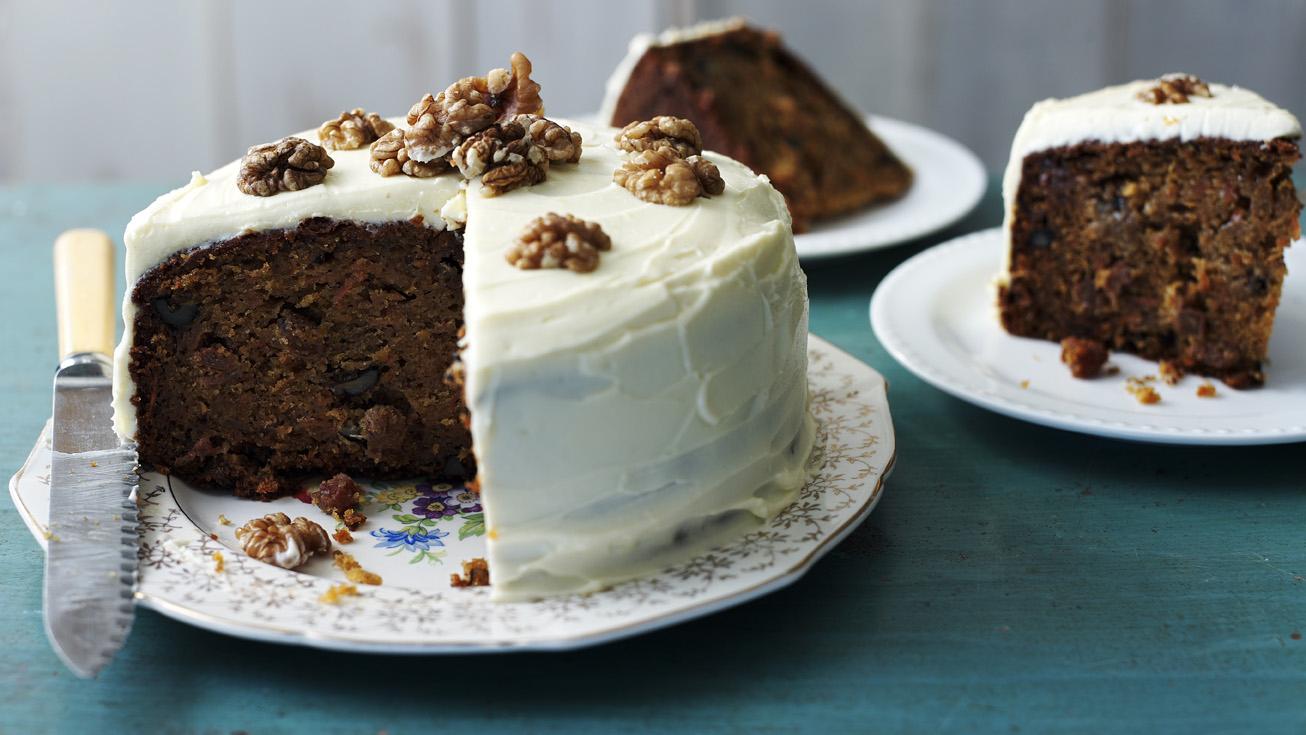 Sensational Classic Carrot Cake Recipe Bbc Food Personalised Birthday Cards Bromeletsinfo