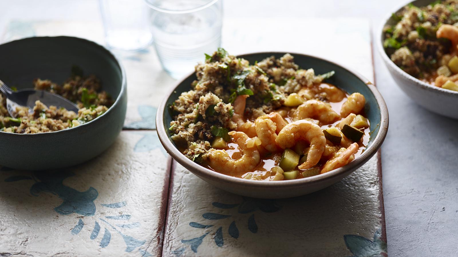 Coconut Prawn Curry With Cauliflower Rice