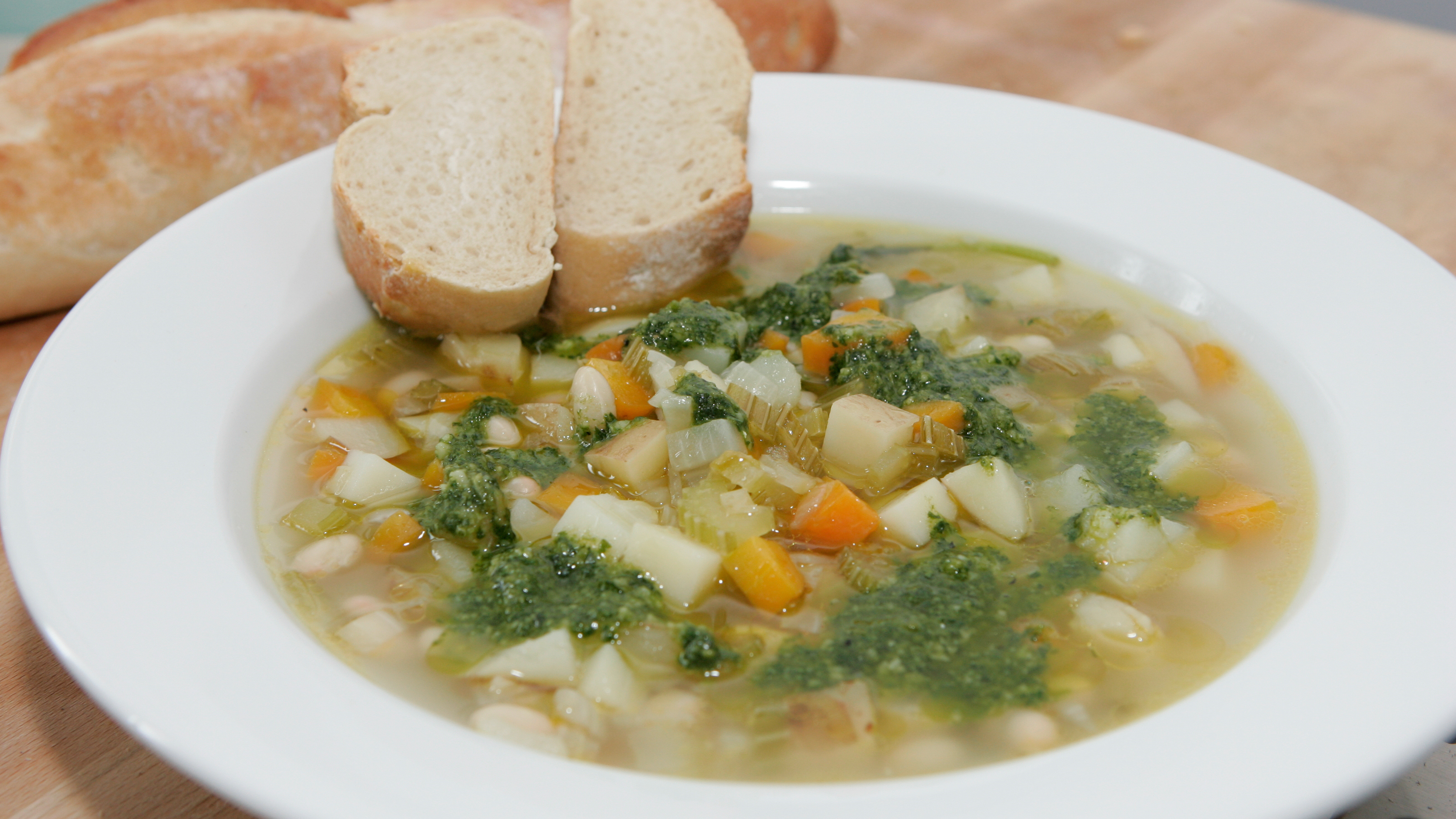Country vegetable soup with basil pistou recipe bbc food forumfinder Image collections