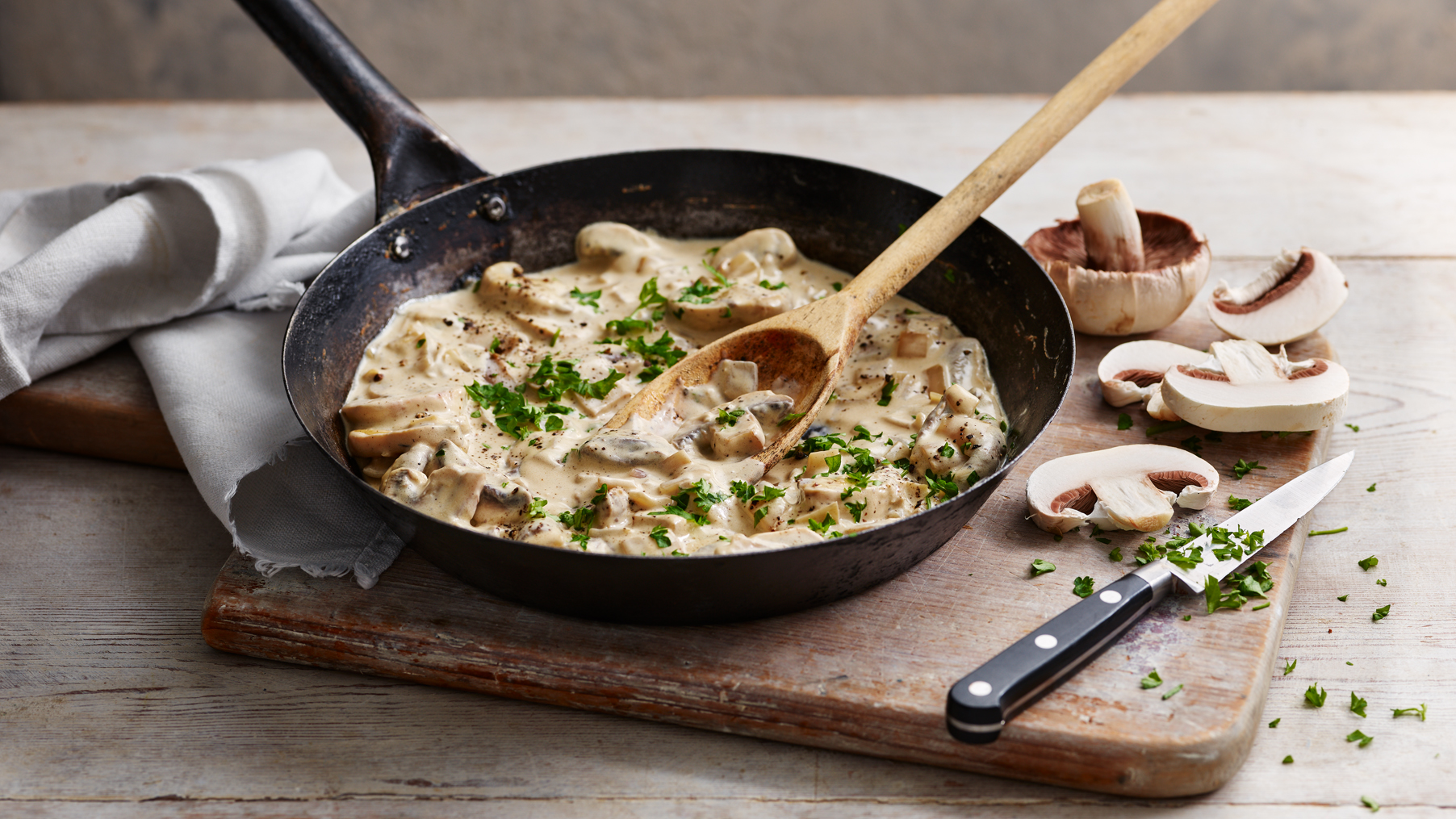 Creamy Mushroom Sauce Recipe Bbc Food