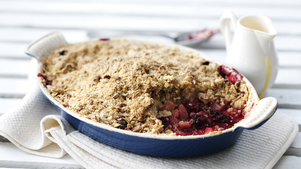 Apple And Blackberry Crumble Recipe Bbc Food
