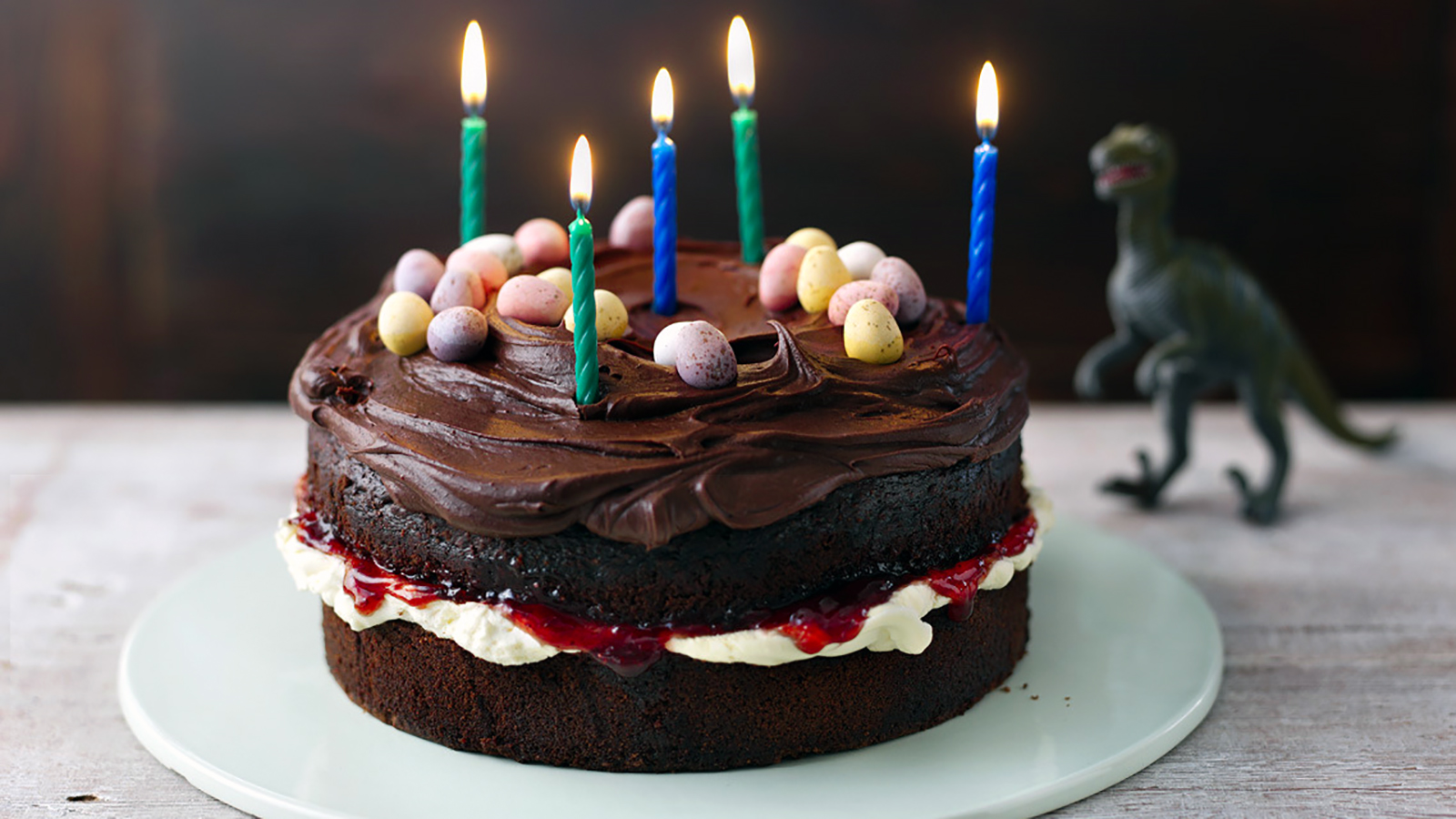 Fabulous Easy Chocolate Birthday Cake Recipe Bbc Food Funny Birthday Cards Online Alyptdamsfinfo