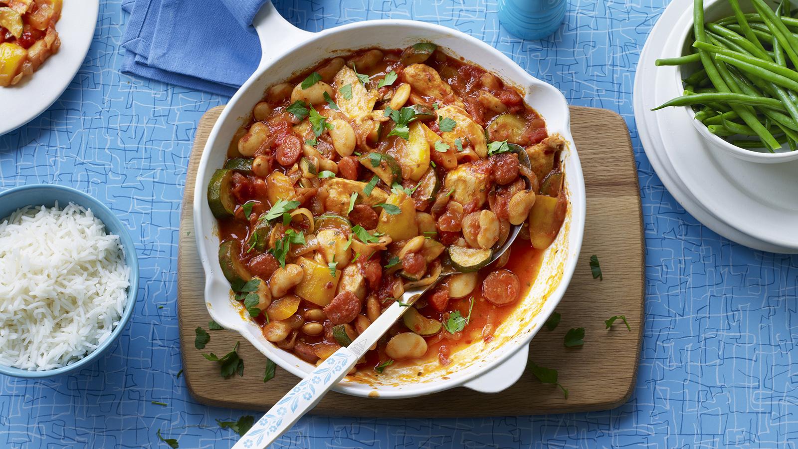 Easy Spanish Chicken Recipe Bbc Food