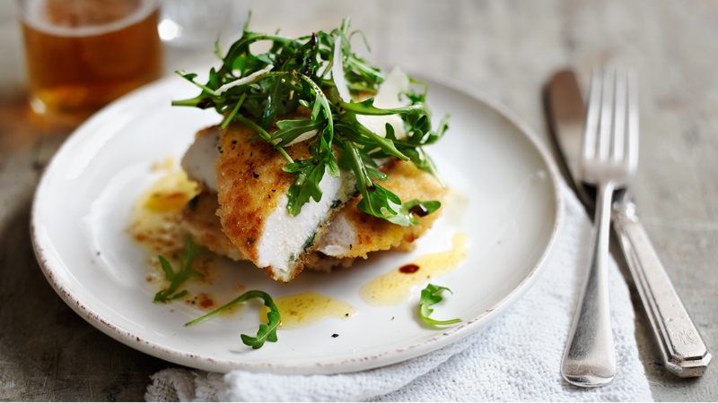 Escalope of chicken with rocket sage and lemon recipe bbc food forumfinder Images