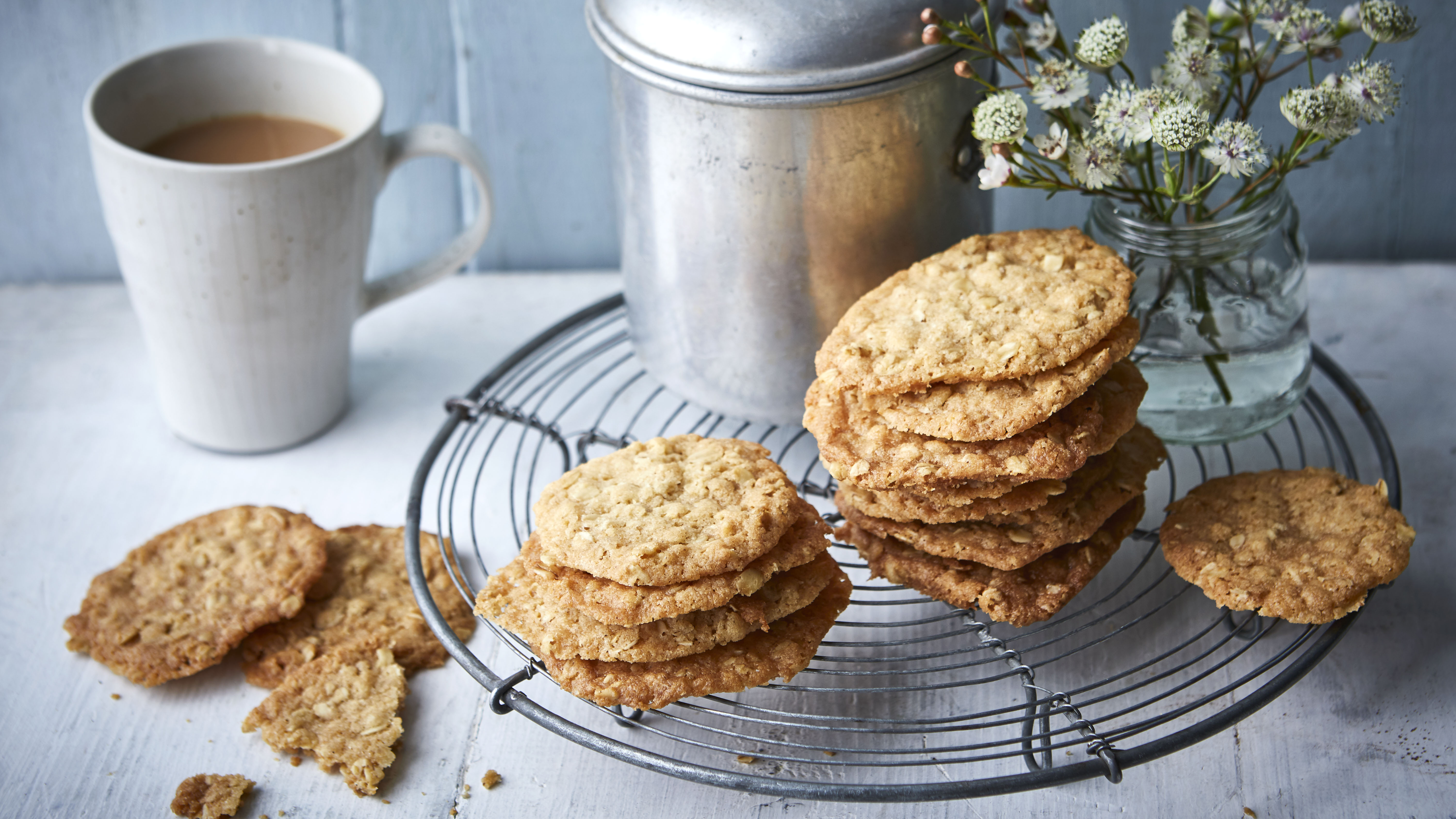 Ginger Oat Crunch Biscuits Recipe Bbc Food