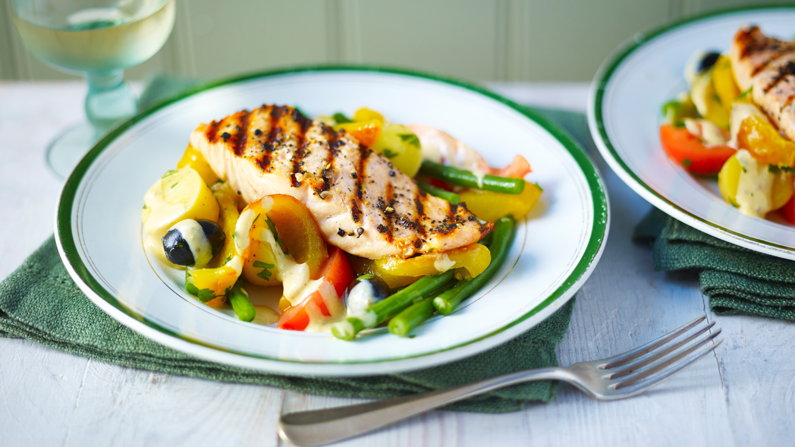 Grilled Salmon Nicoise Recipe Bbc Food