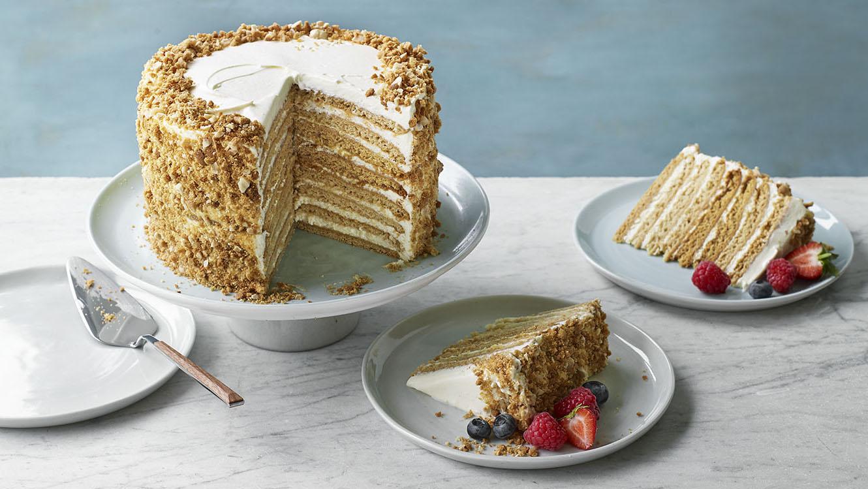 Nadiya S Russian Honey Cake Recipe Bbc Food