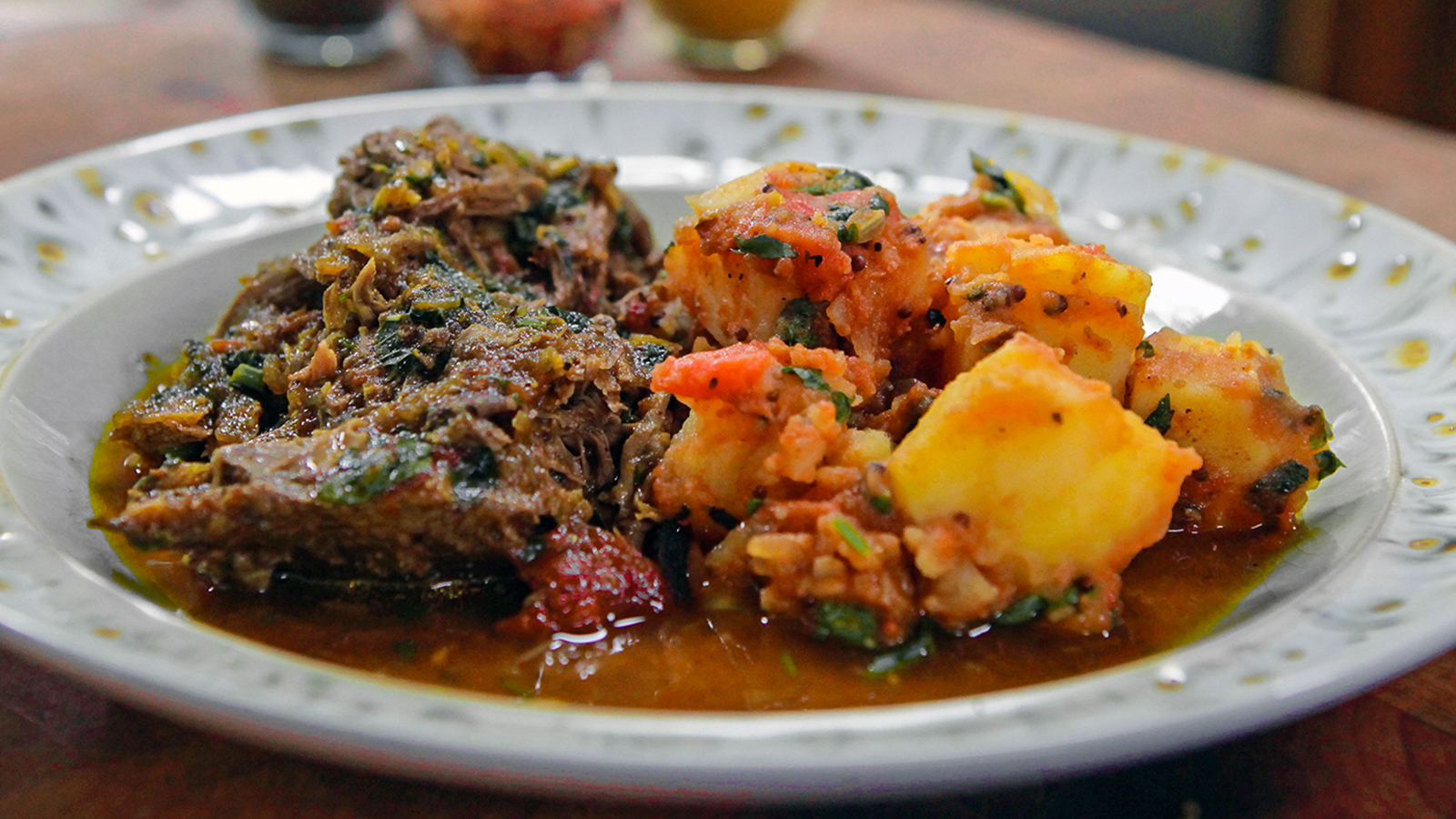 Indian spiced lamb shoulder with bombay potatoes recipe bbc food forumfinder Gallery
