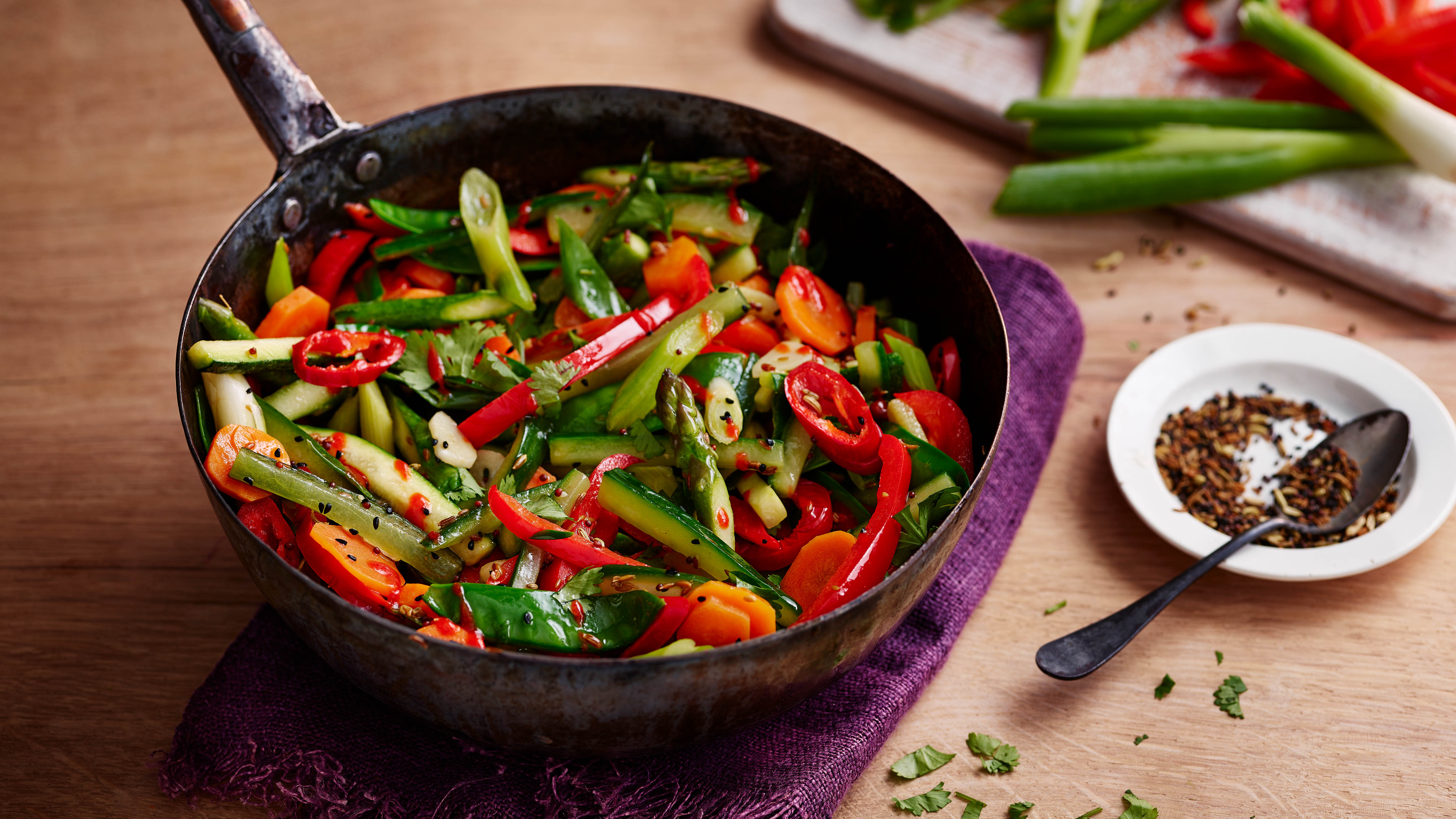 Indian Five Spice Vegetable Stir Fry