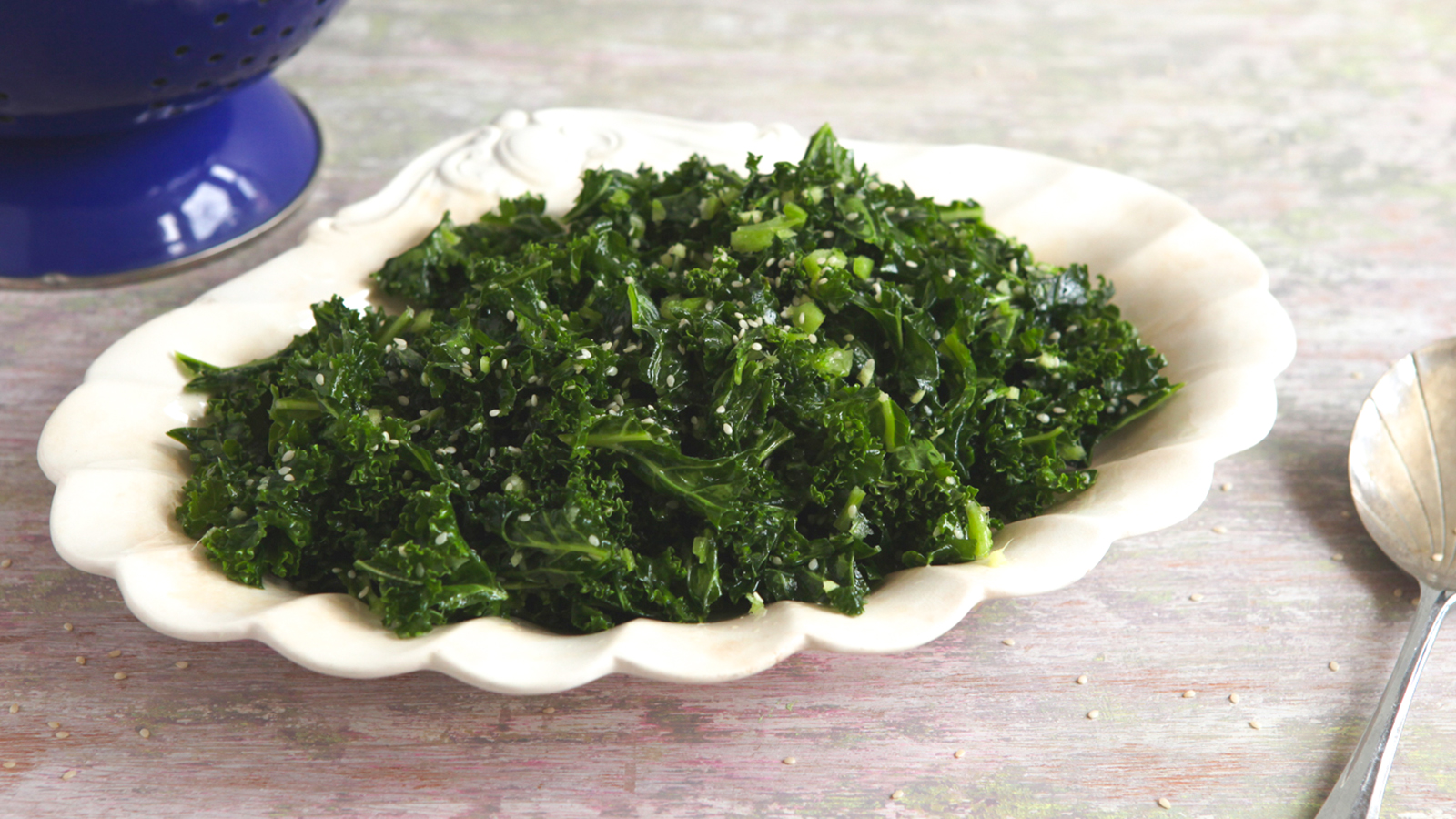 Kale lemon honey and sesame seed salad recipe bbc food forumfinder Gallery