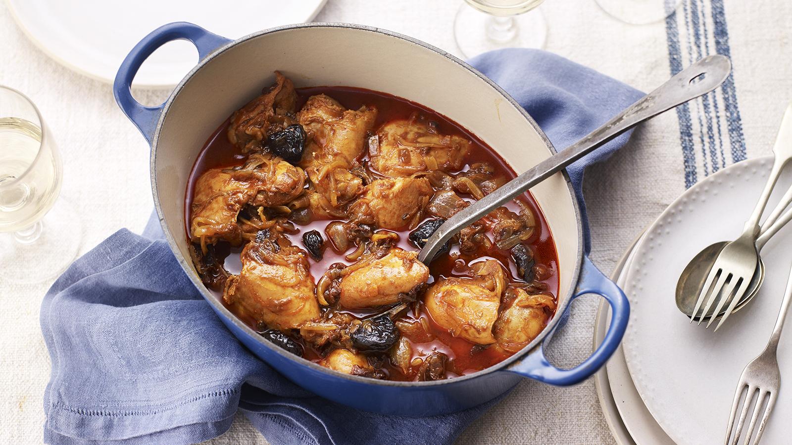 Kozani chicken with prunes saffron and paprika recipe bbc food forumfinder Gallery