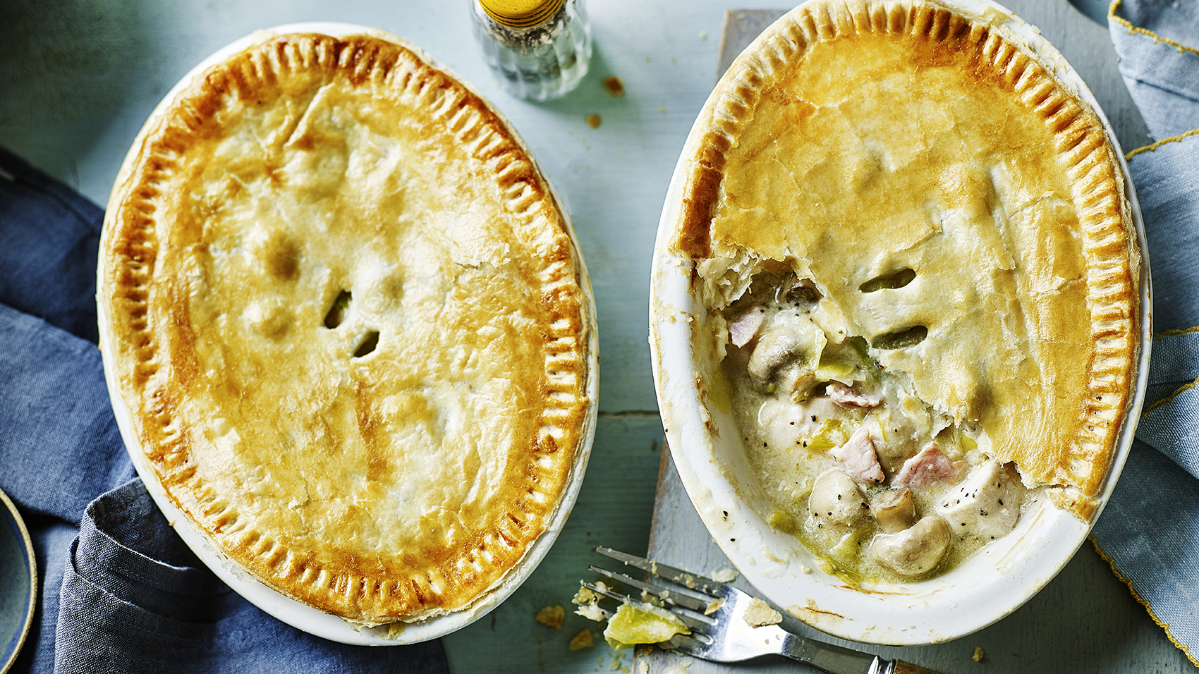 Lighter chicken bacon and leek pies recipe bbc food forumfinder Gallery