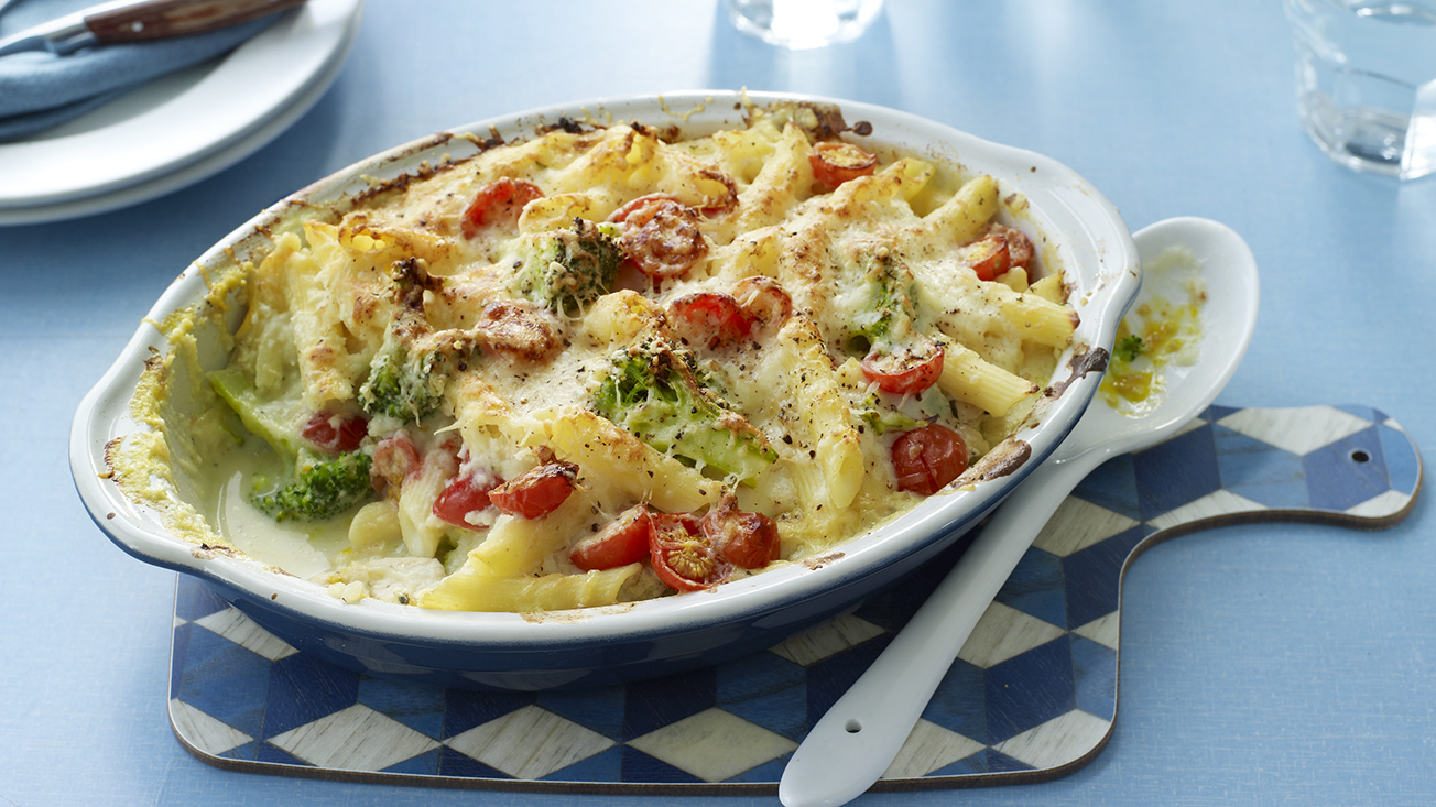 Lighter chicken pasta bake recipe bbc food lighter chicken pasta bake recipe bbc food forumfinder Choice Image