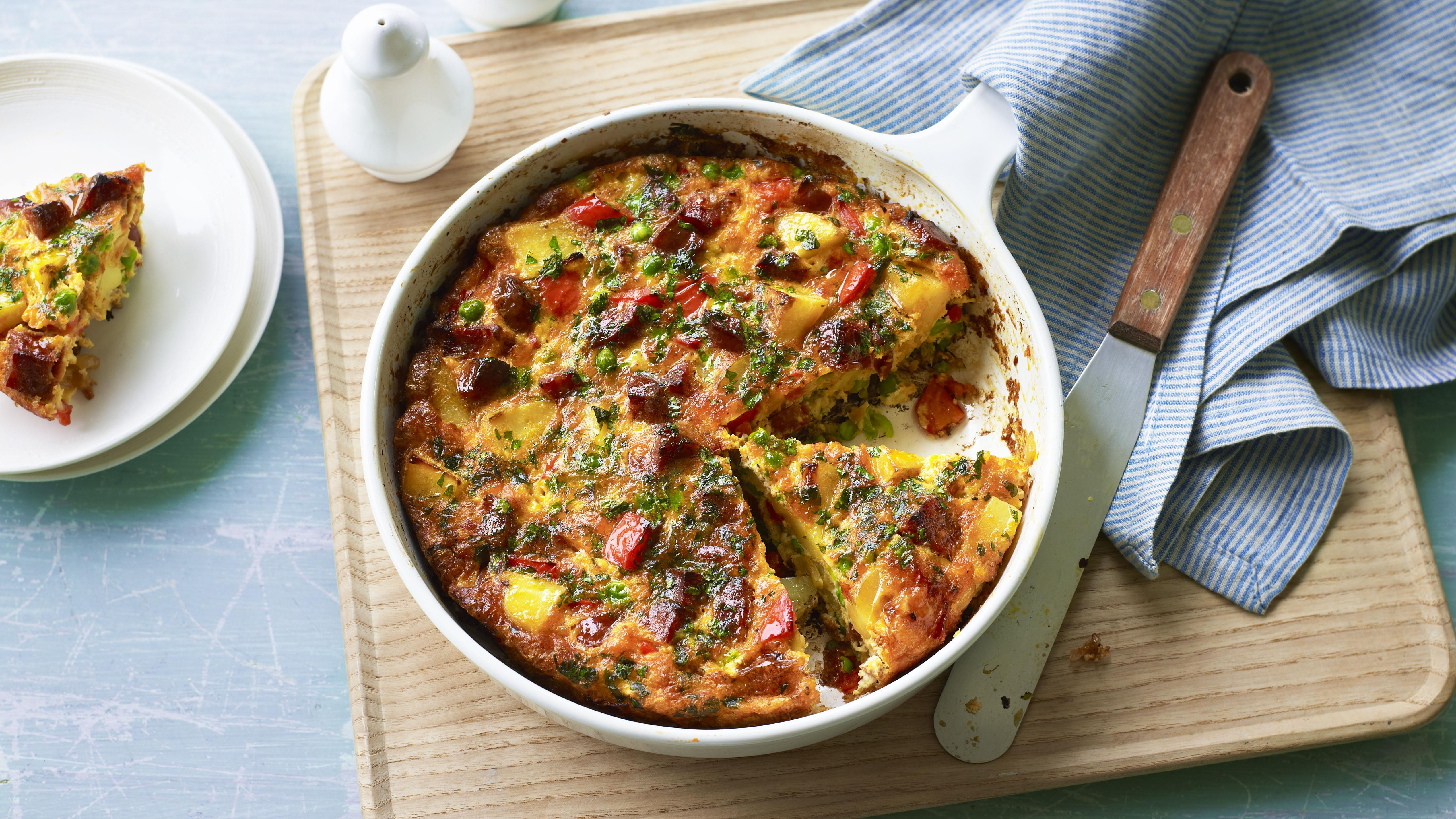 Lunchbox chorizo frittata recipe bbc food forumfinder Image collections