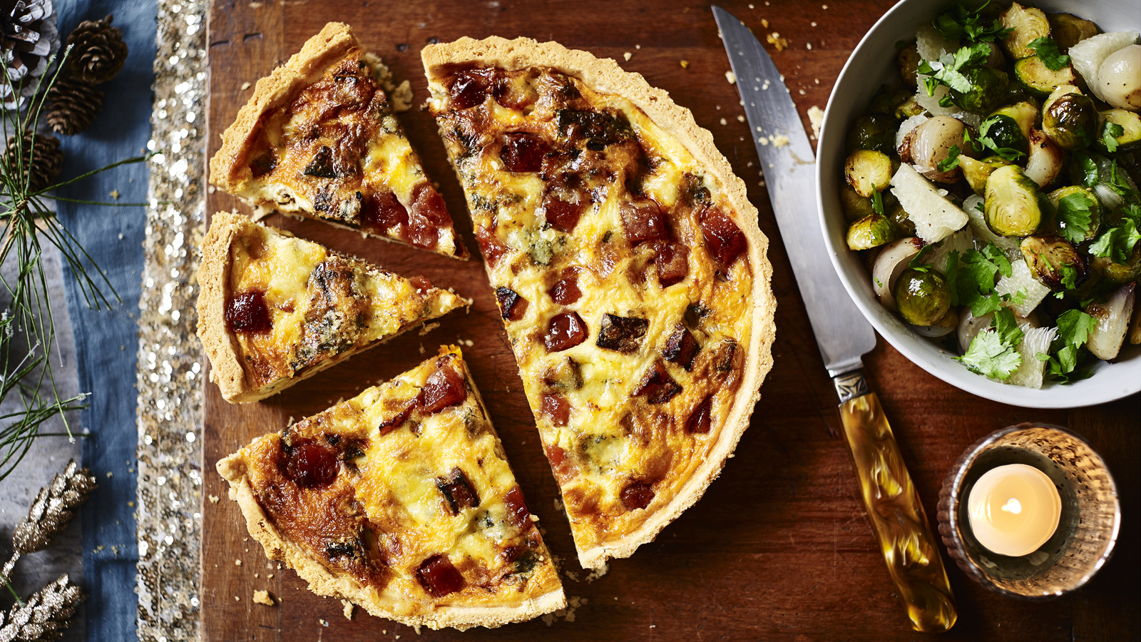 Butternut squash and stilton quiche with roasted sprouts recipe butternut squash and stilton quiche with roasted sprouts recipe bbc food forumfinder Gallery