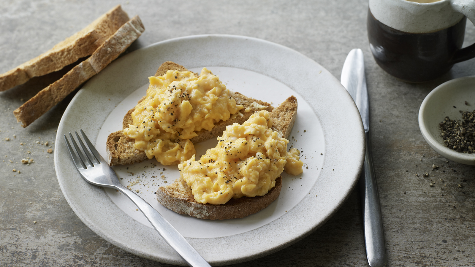 Microwave Scrambled Eggs Recipe Bbc Food