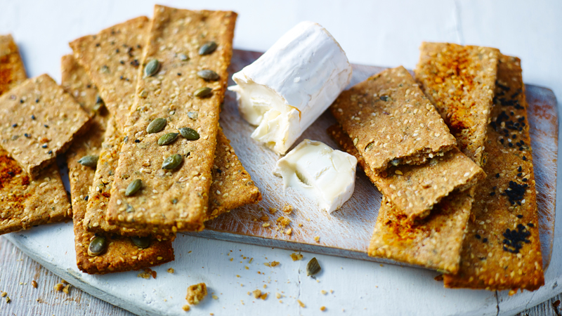 multi seed savoury crackers recipe bbc food