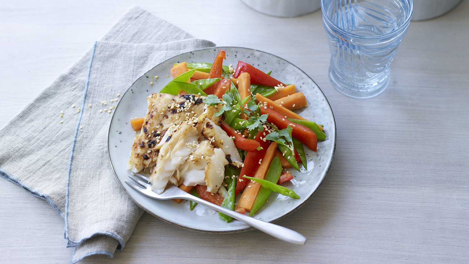 Soy And Mirin Cod With Stir Fry Recipe Bbc Food
