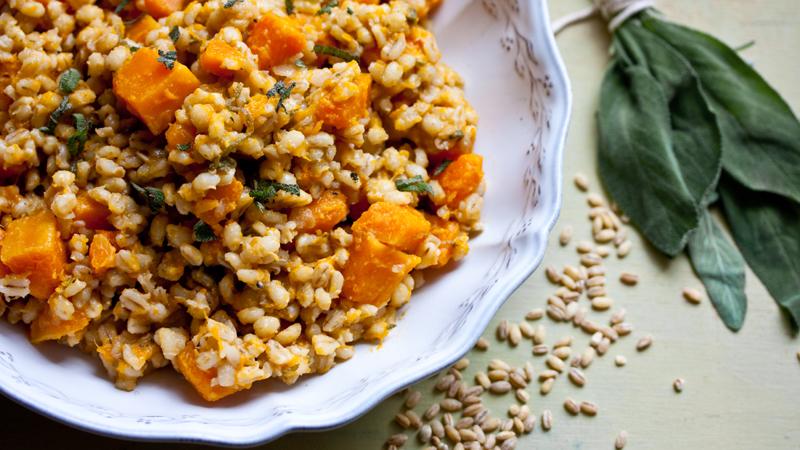 pearl barley butternut squash and sage risotto recipe bbc food