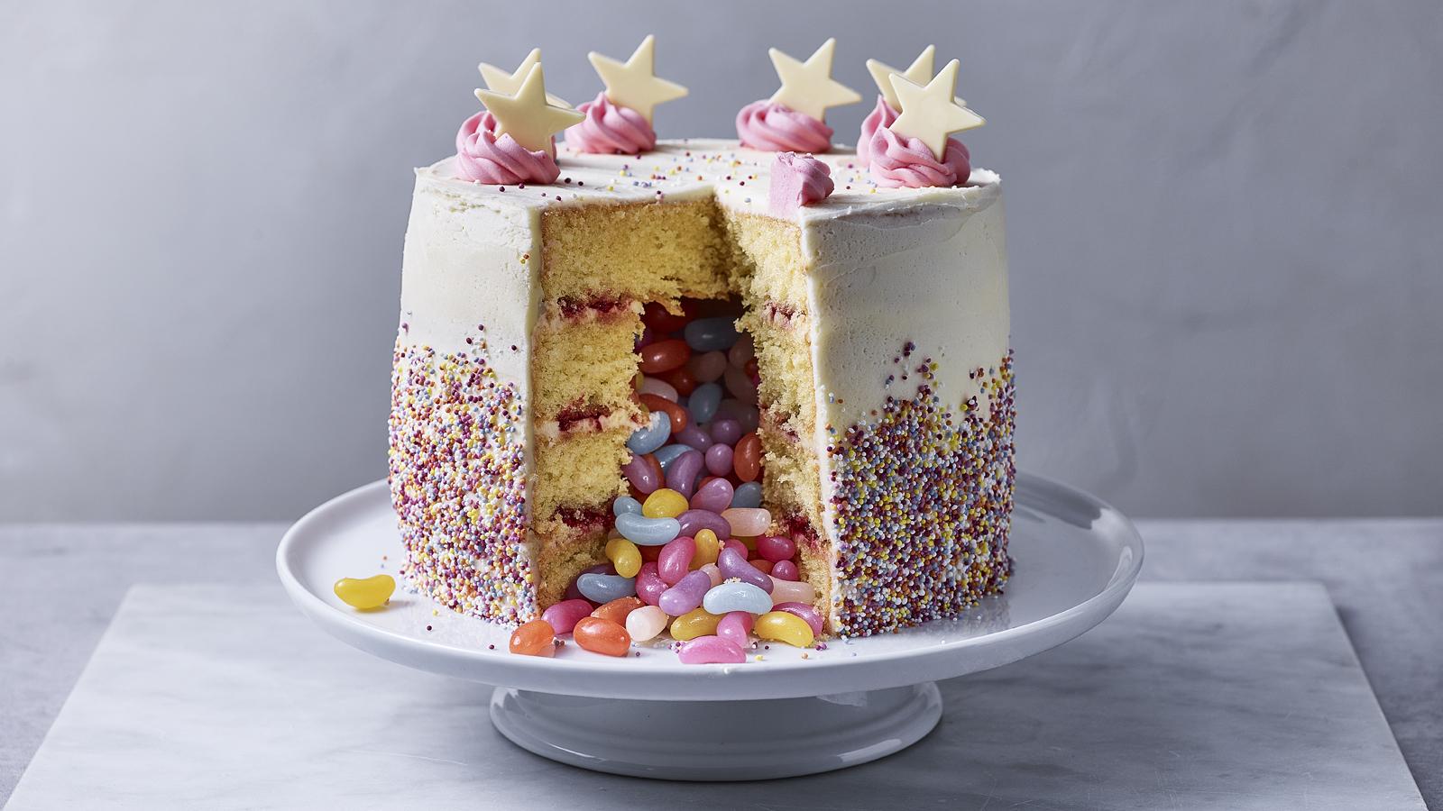 Pleasing Pinata Cake Recipe Bbc Food Personalised Birthday Cards Xaembasilily Jamesorg
