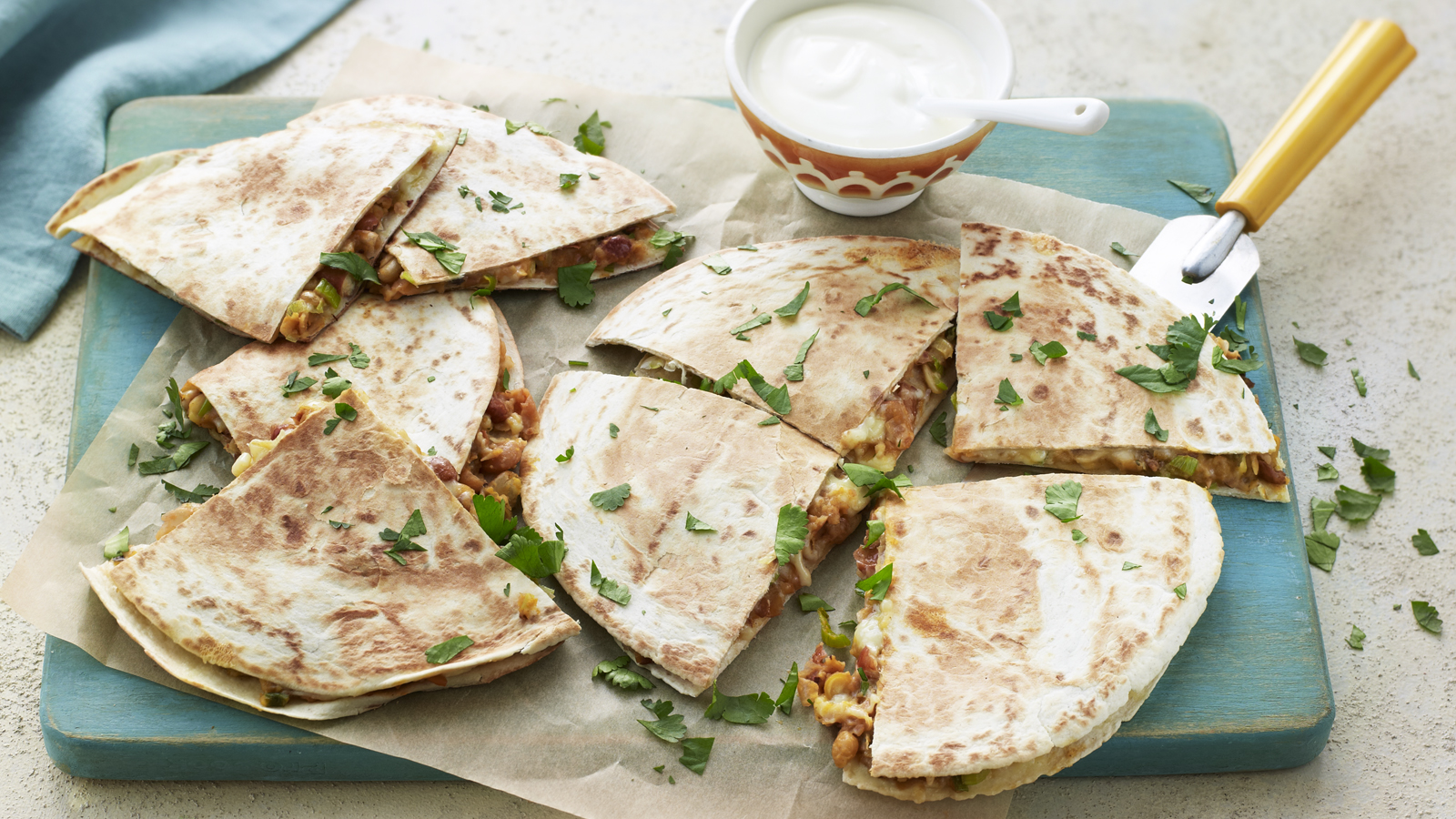 Easy Vegetarian Quesadilla Recipe Bbc Food