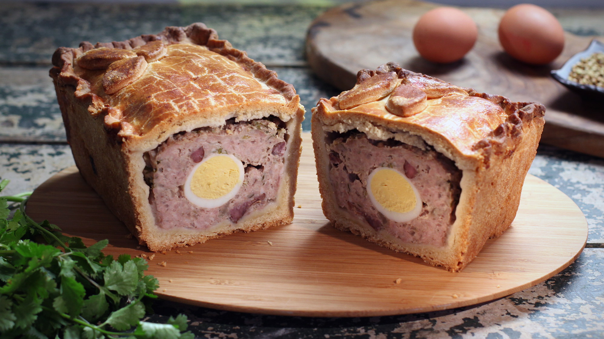 Raised Pork And Egg Pie Recipe Bbc Food