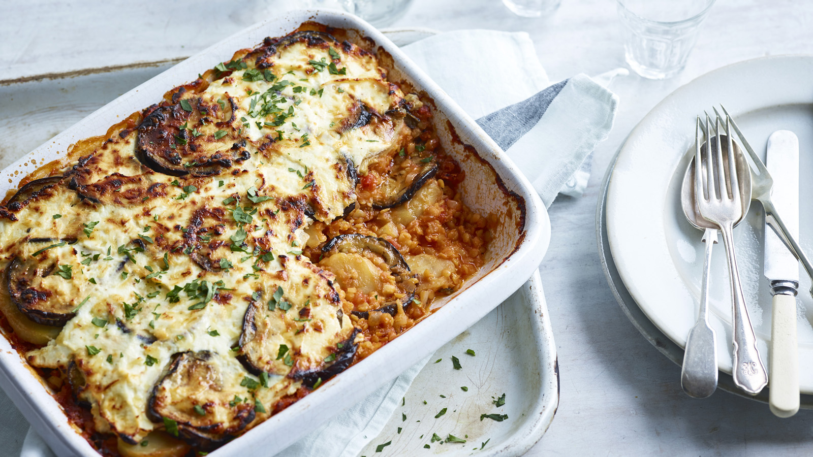 Vegetarian Moussaka Recipe Bbc Food