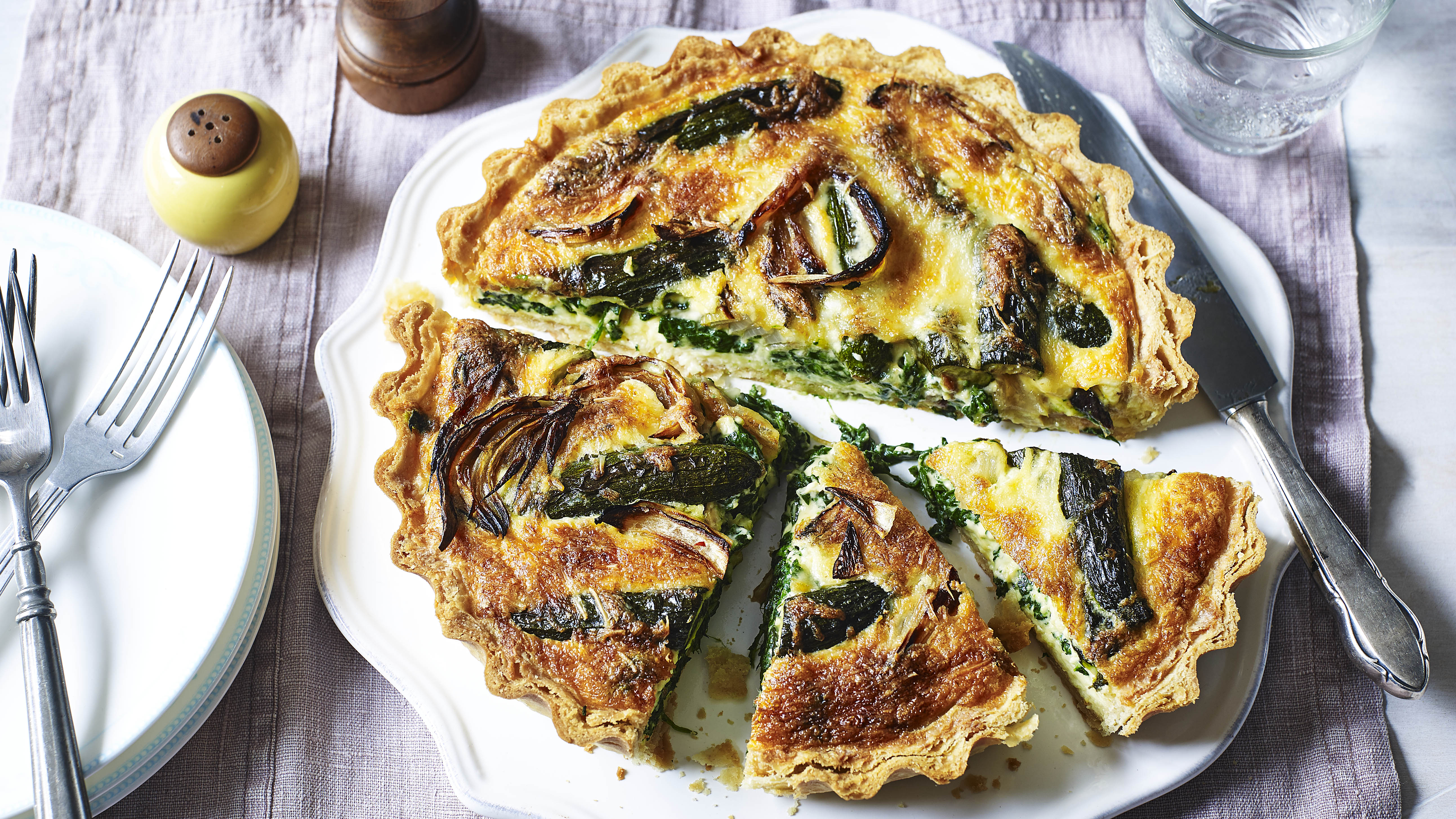Roasted Vegetable Quiche Recipe Bbc Food