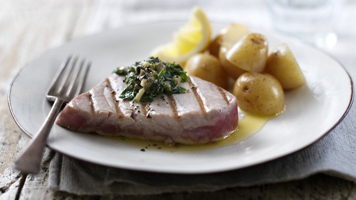 How To Cook Tuna Steaks Recipe Bbc Food