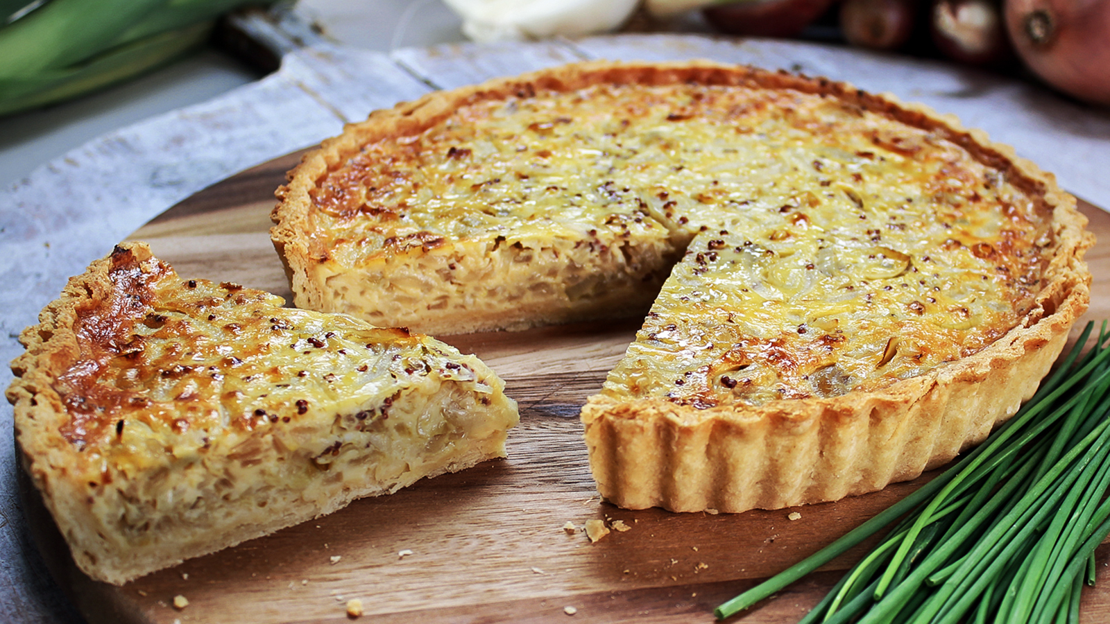 Shallot onion and chive tart recipe bbc food forumfinder Gallery