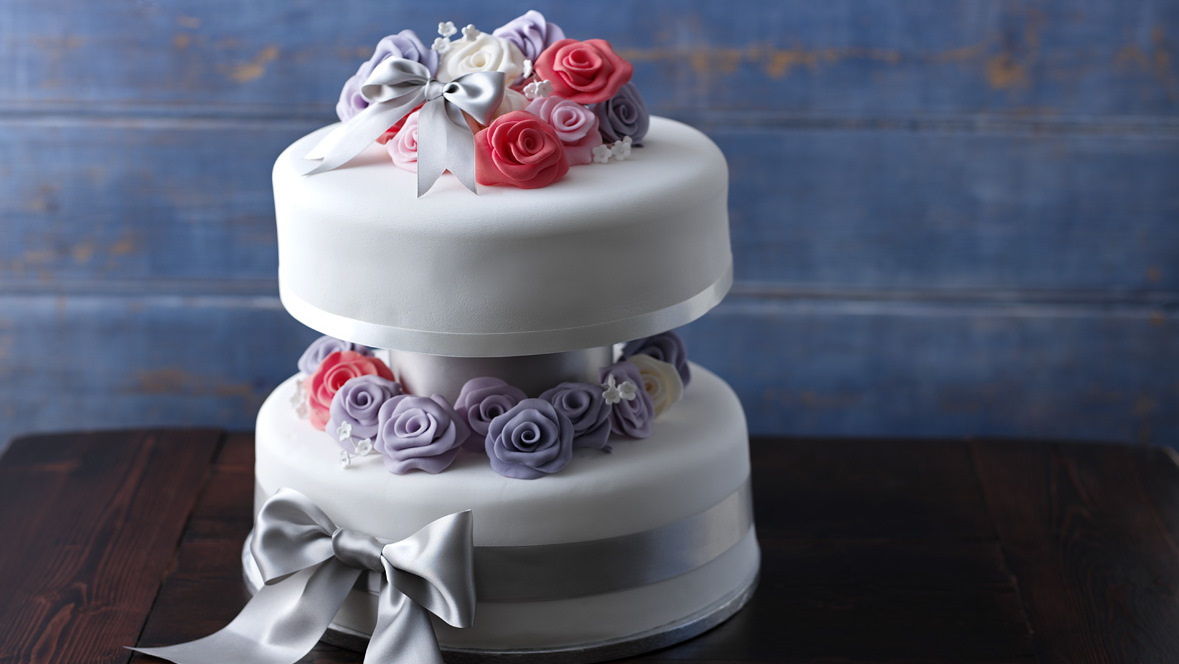 Simple two tiered wedding cake recipe BBC Food