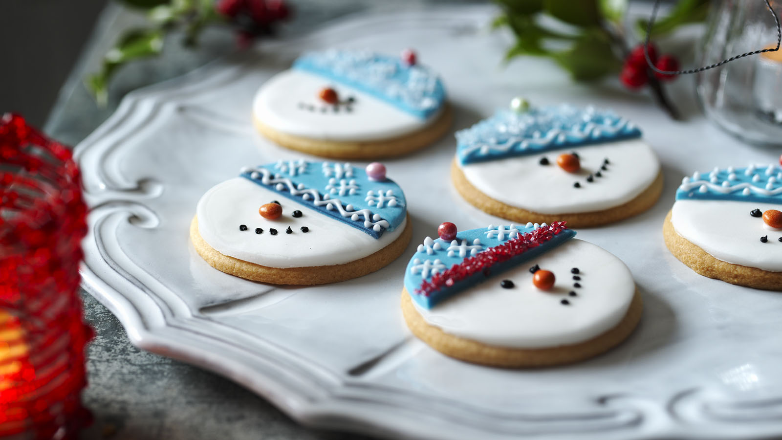 Snowman biscuits christmas cookies recipe bbc food forumfinder Choice Image