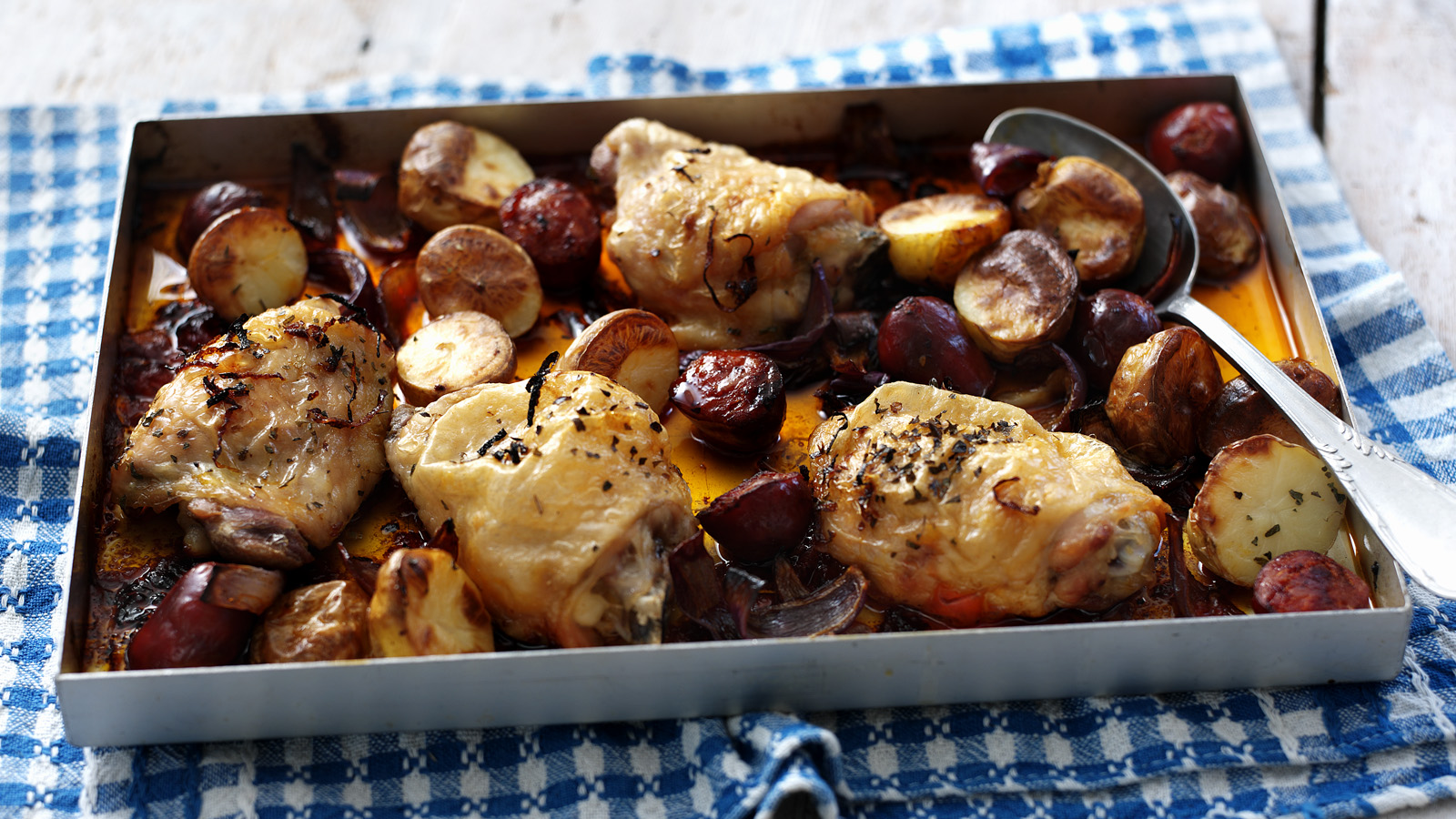 Chicken with chorizo and potatoes recipe bbc food forumfinder